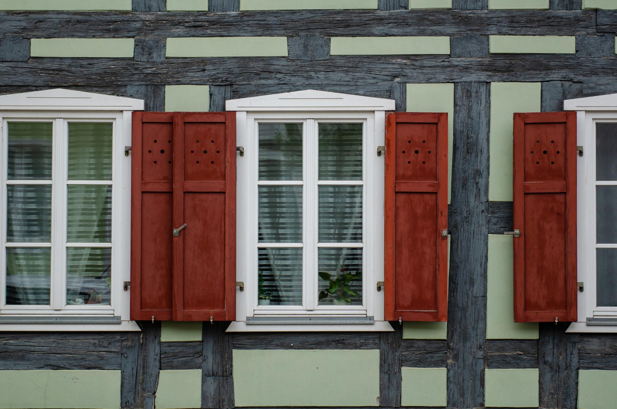 Fachwerkfassaden gehören zu Templin in Brandenburg dazu
