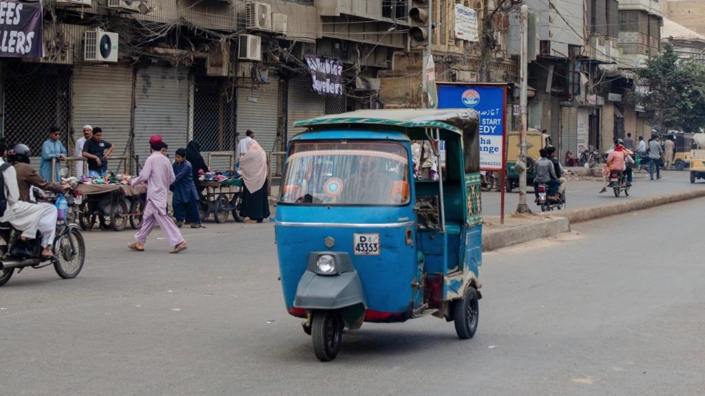 Mit der Rikscha durch Karatschi