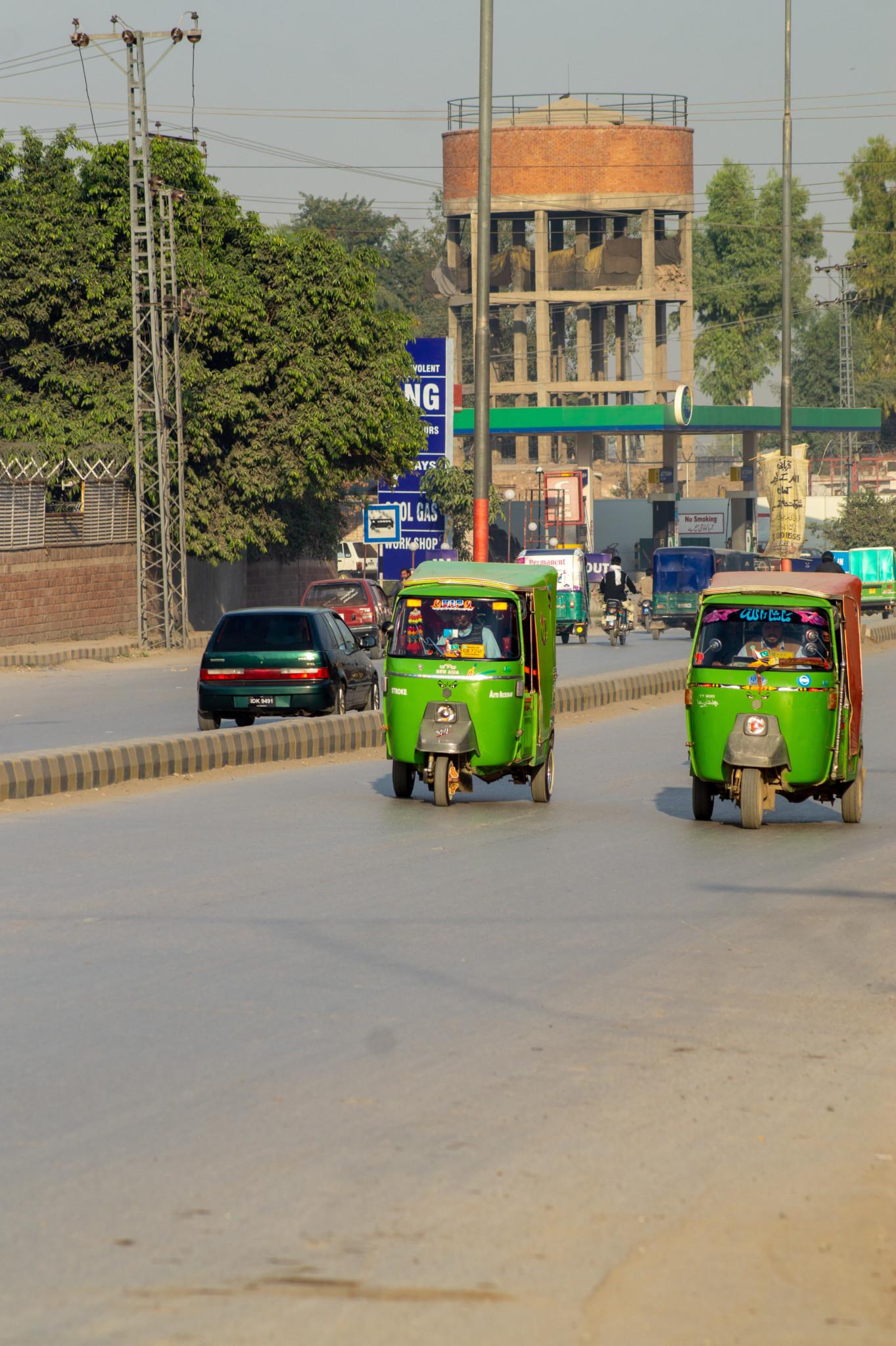 Rikscha als Fortbewegungsmittel in Pakistan