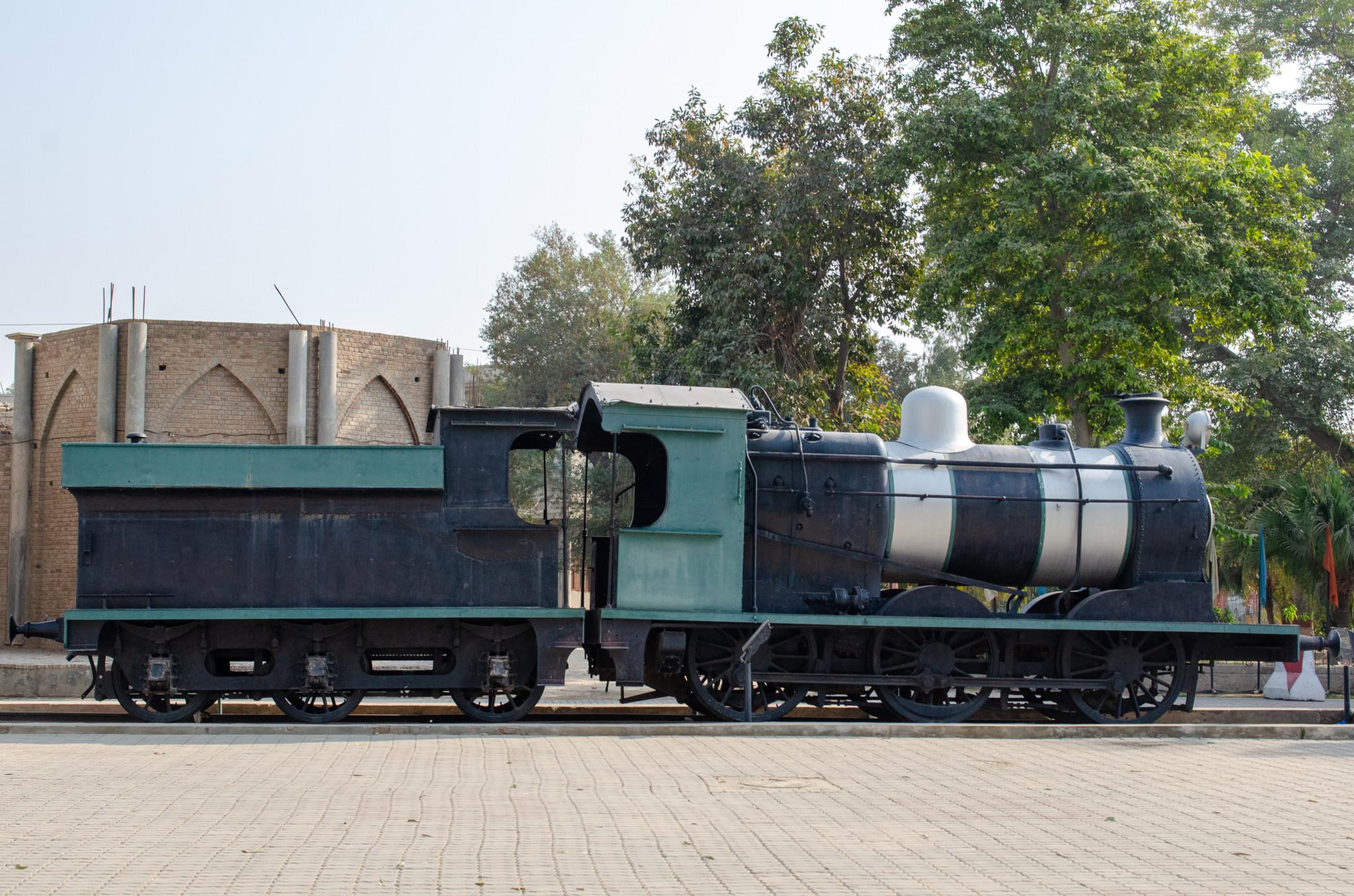 Historische Zug im Museum in Karatschi