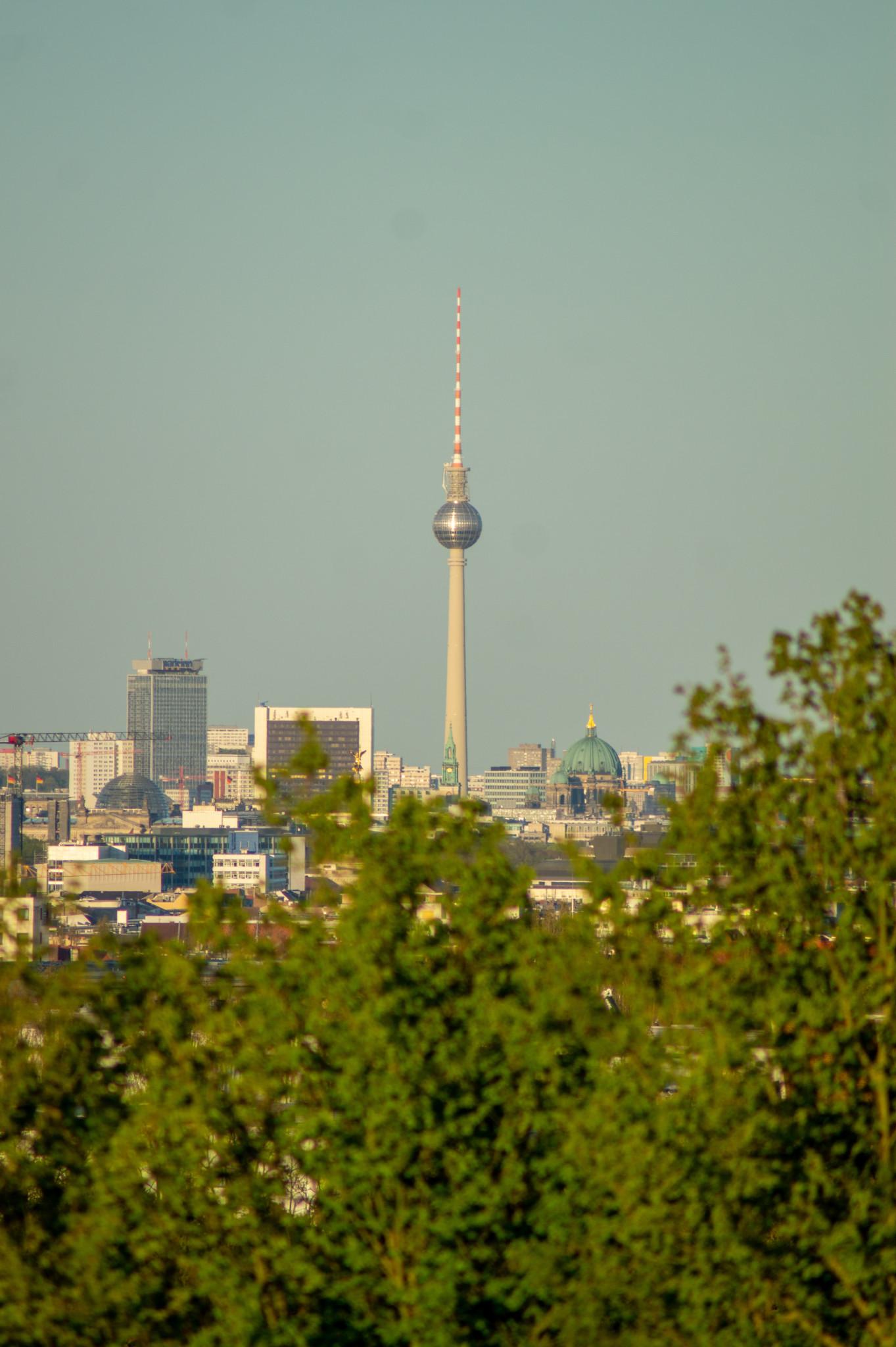 Ausblick vom Drachenberg über Berlin