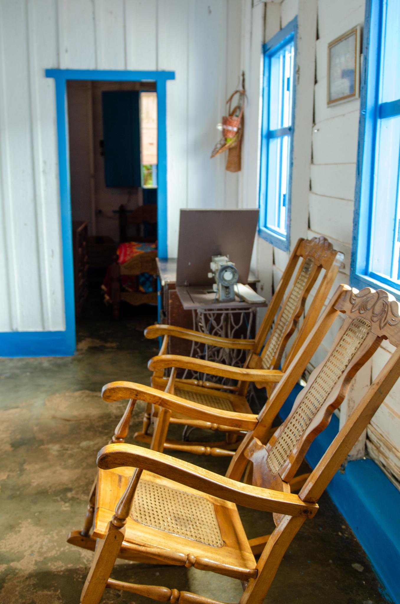 Bauernhaus auf einer Tabakfarm in Kuba