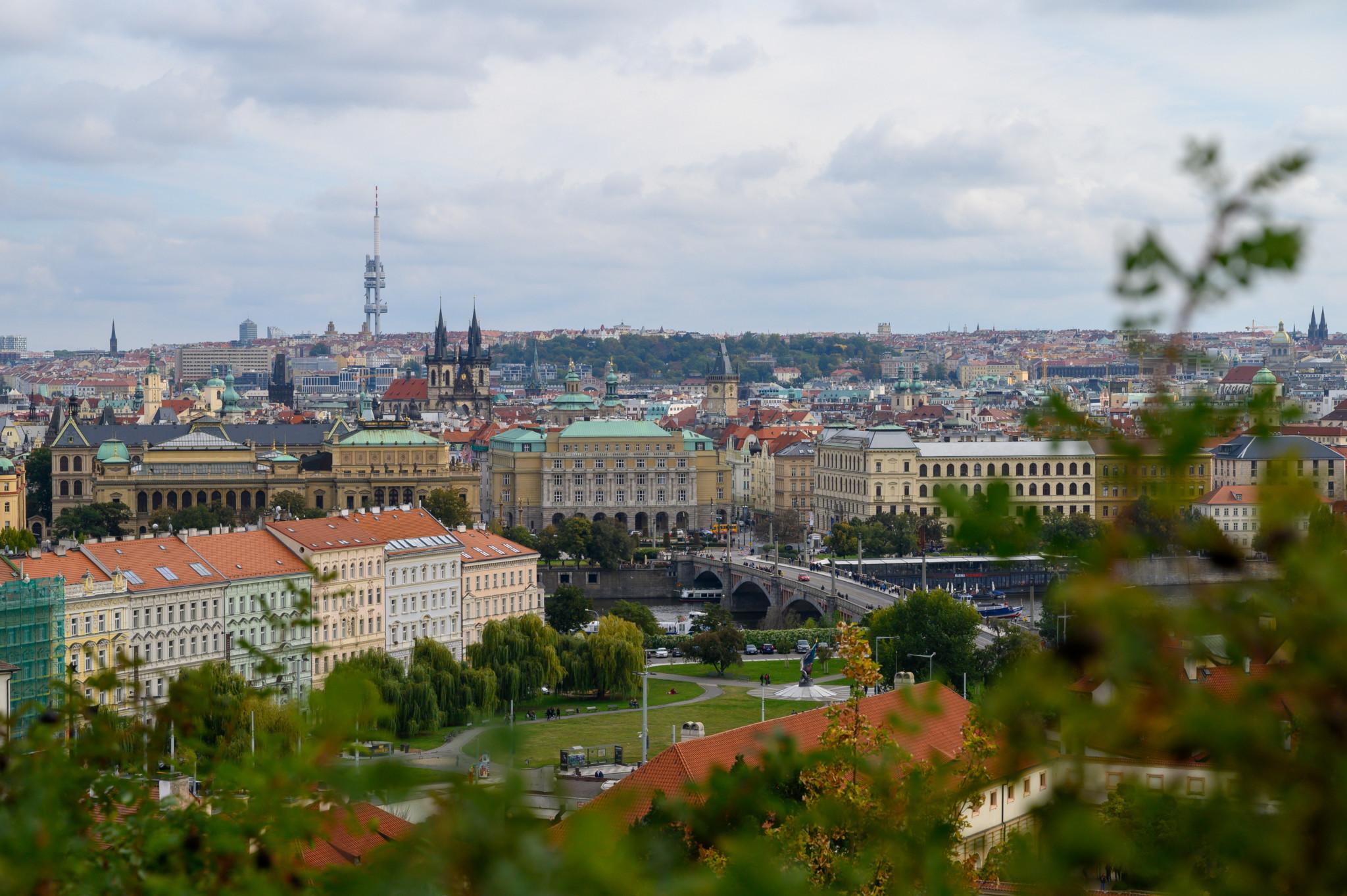 Ausblick auf Prag von der Kleinseite aus