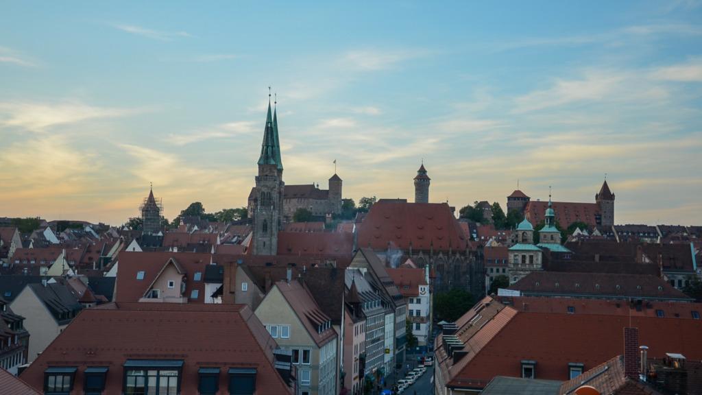 Ausblick auf Nürnberg vom Parkhaus
