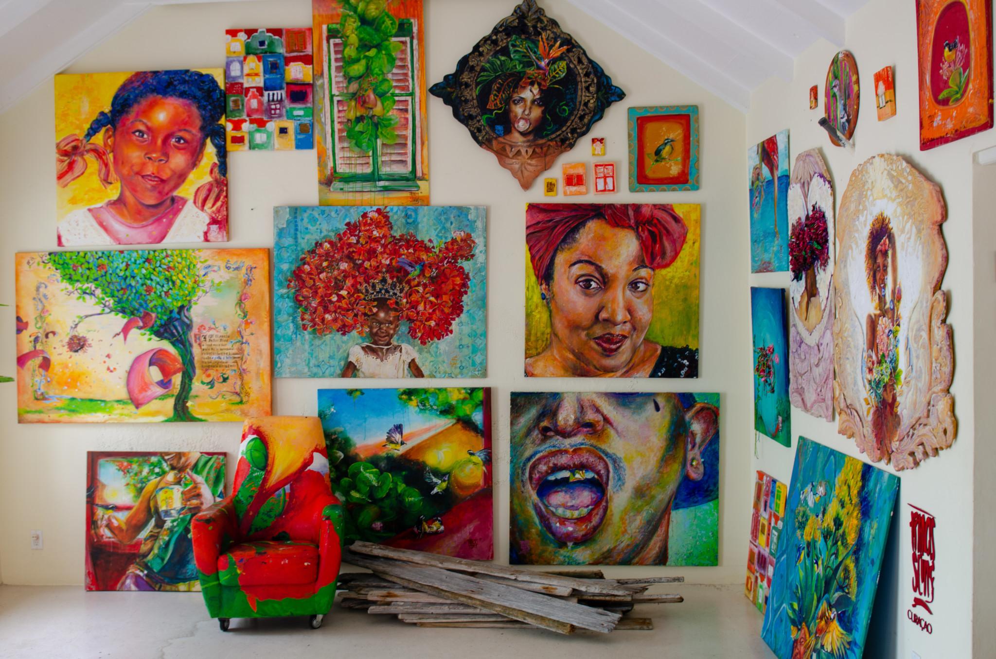 Das Atelier von Francis Sling