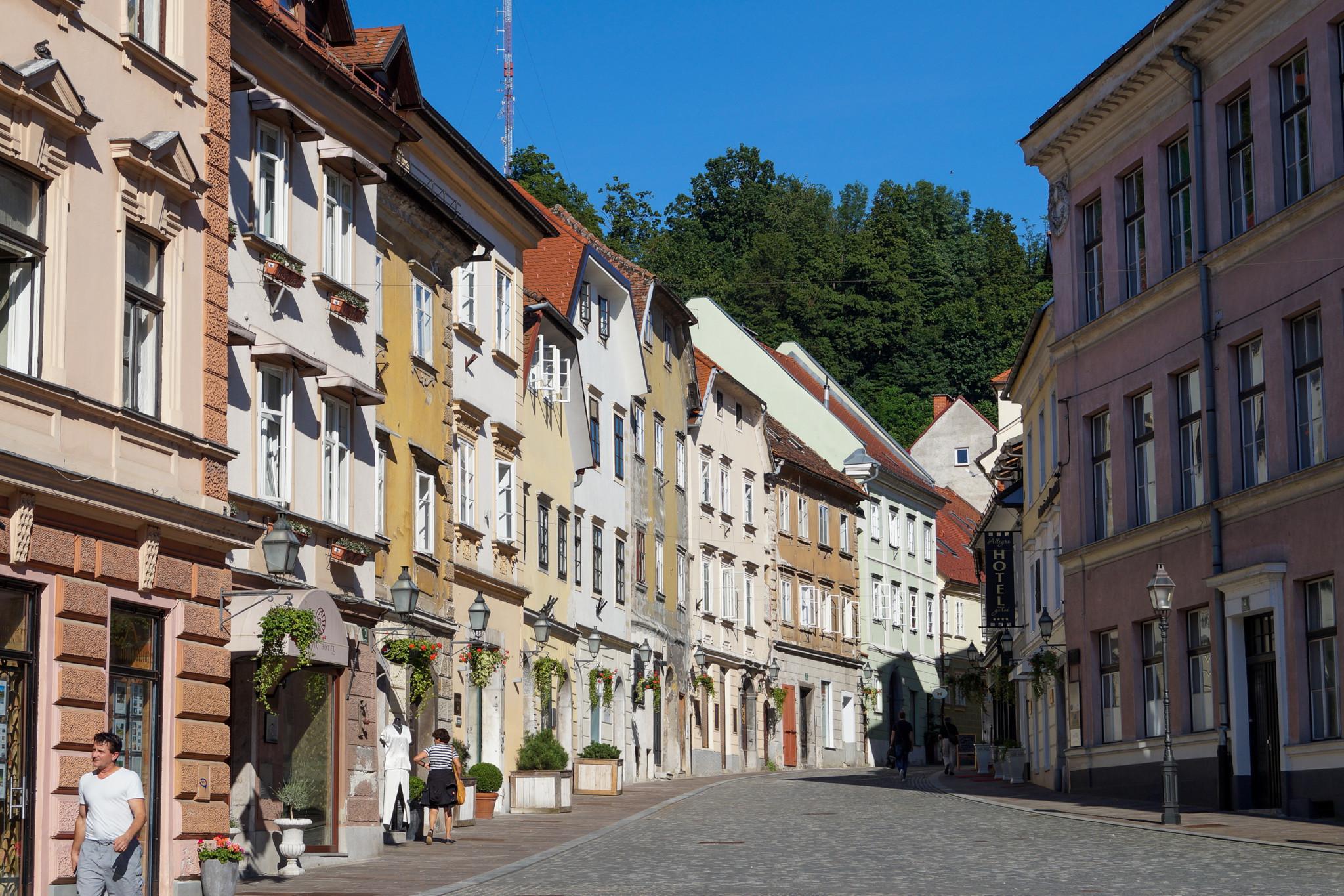 Typische Gassen in Slowenien