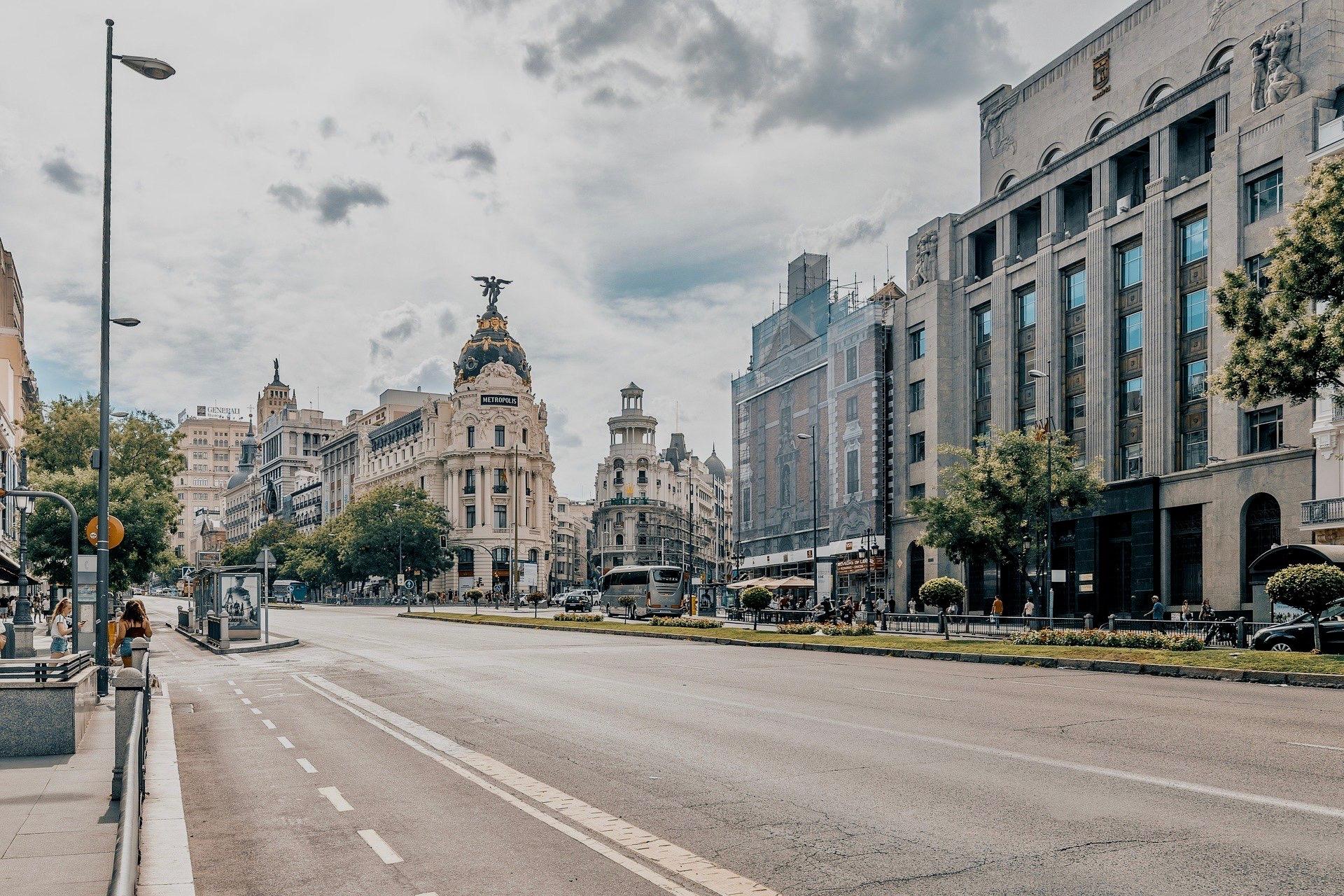 Gran Via Prachtstraße in Madrid