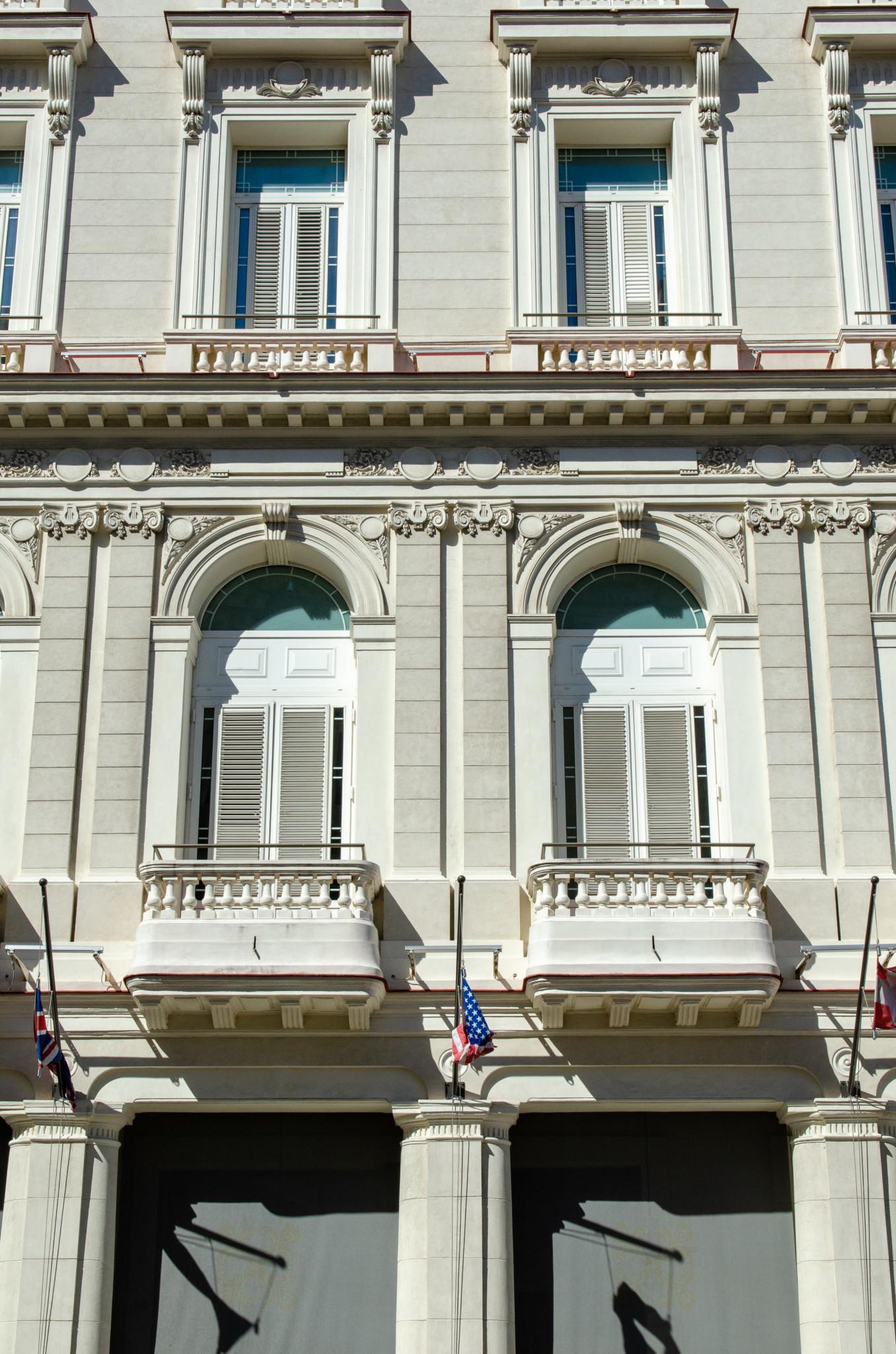 Typische Hausfassade in Havanna