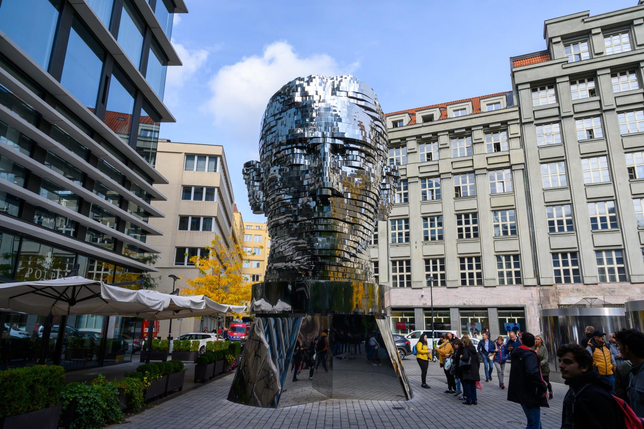 Die berühmte Kafka-Statue von Czerny
