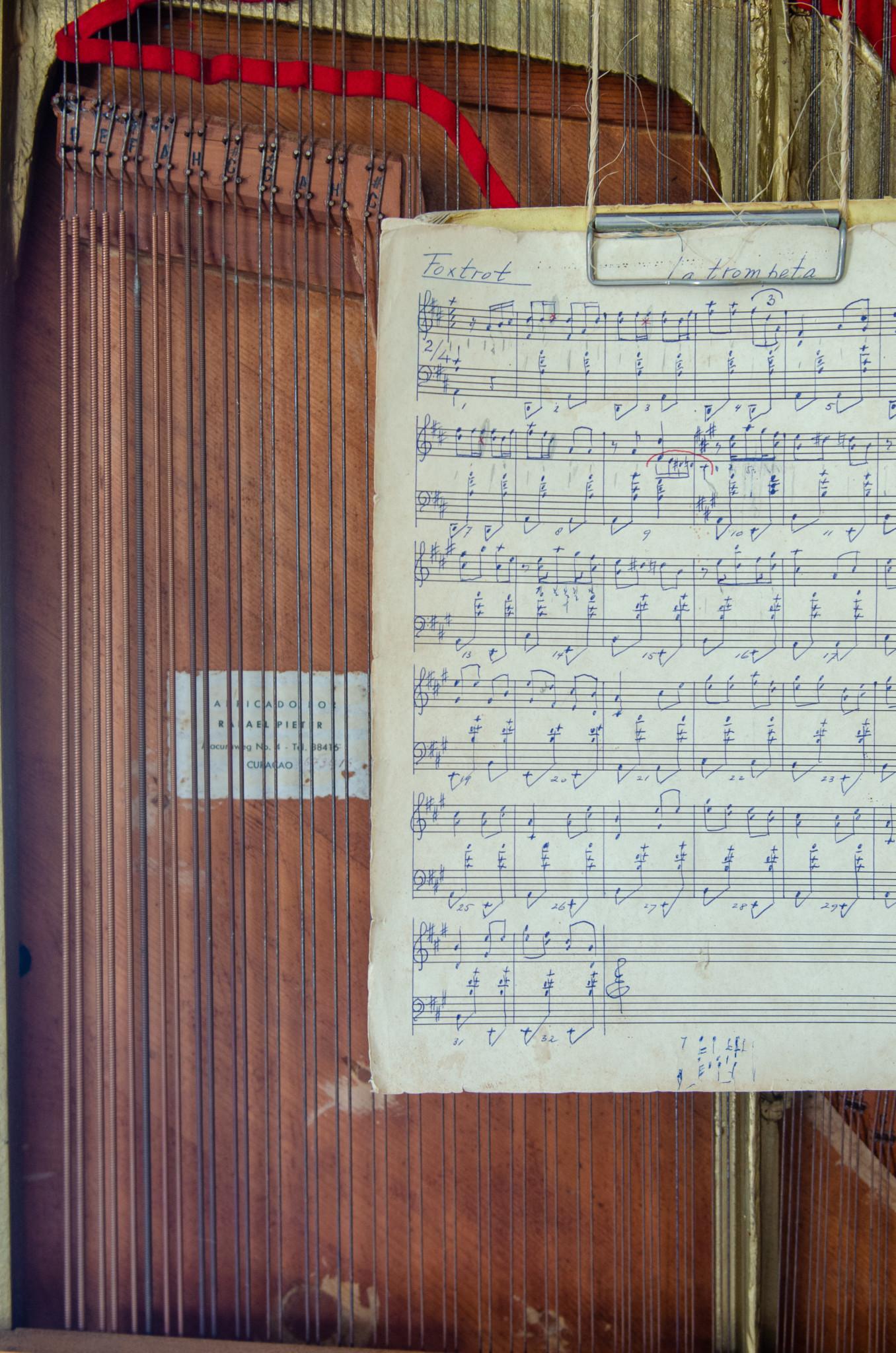 Notenblätter im Kai Orgel Museum