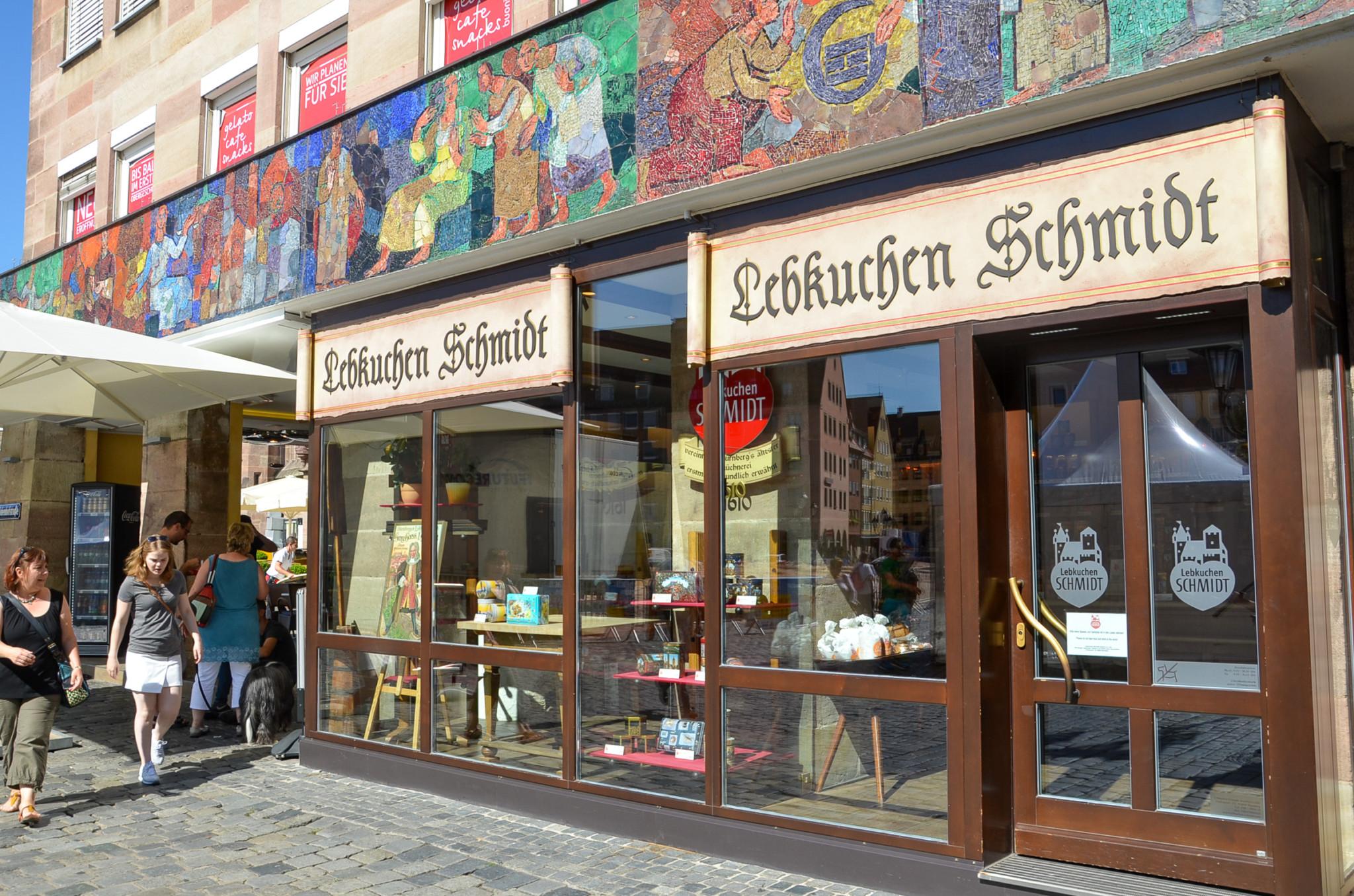 Lebkuchen Schmidt am Hauptmarkt in Nürnberg