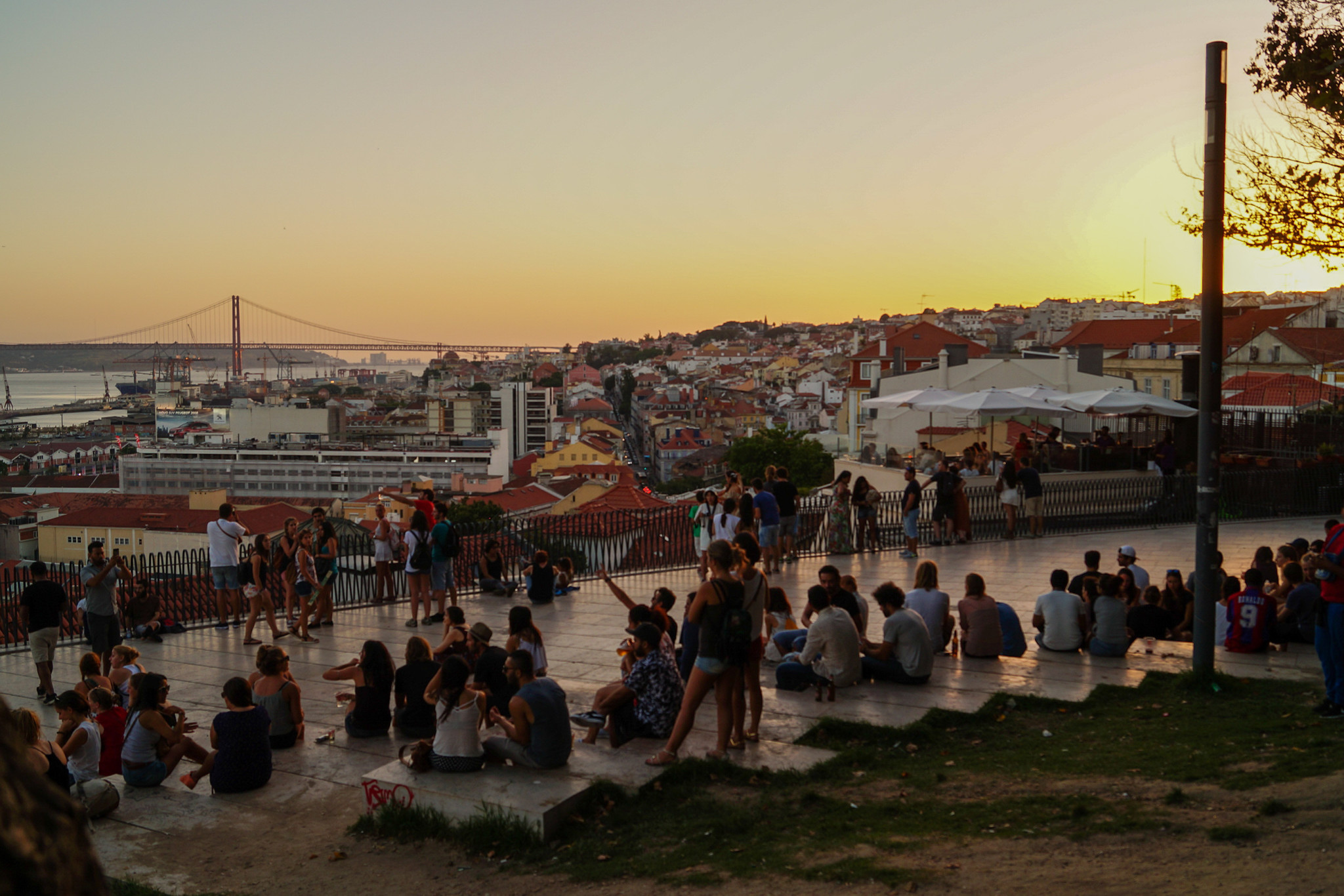 Miradouro de Santa Catarina in Lissabon