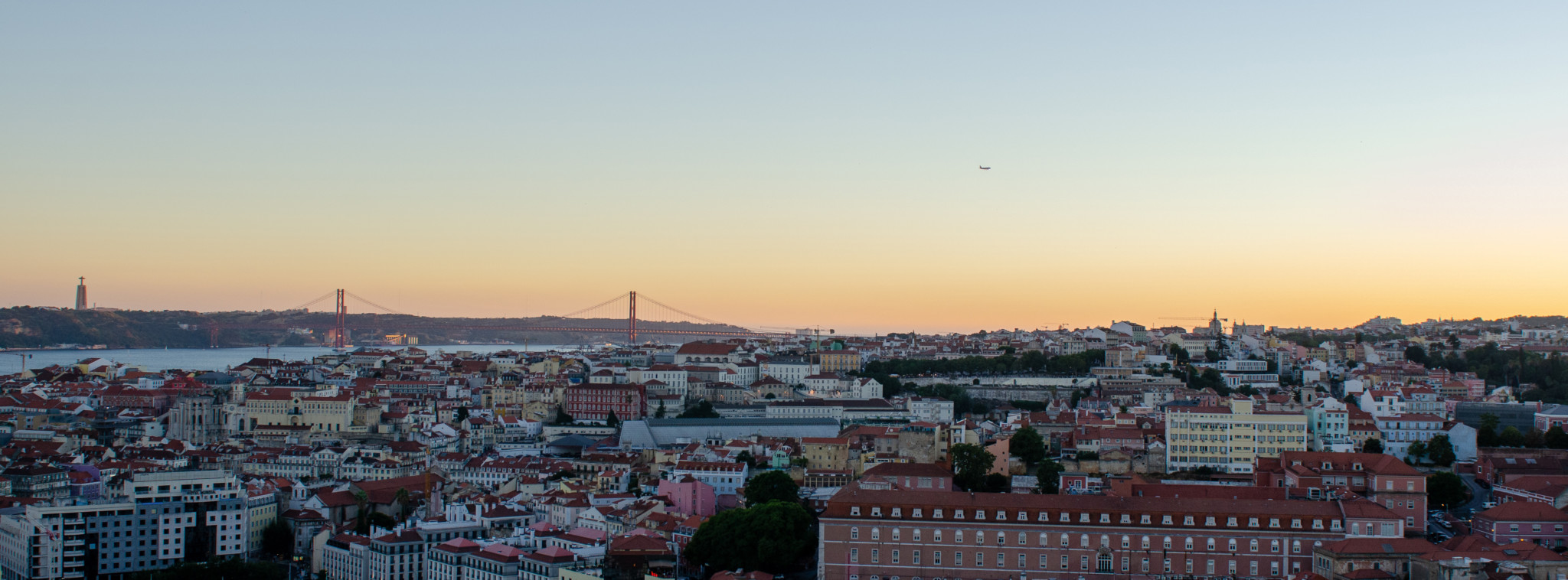 Sonnenuntergang über Lissabon
