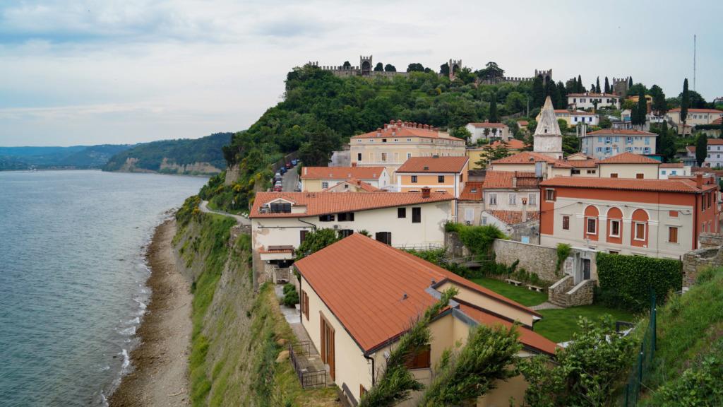 Typische Architektur von Piran in Slowenien