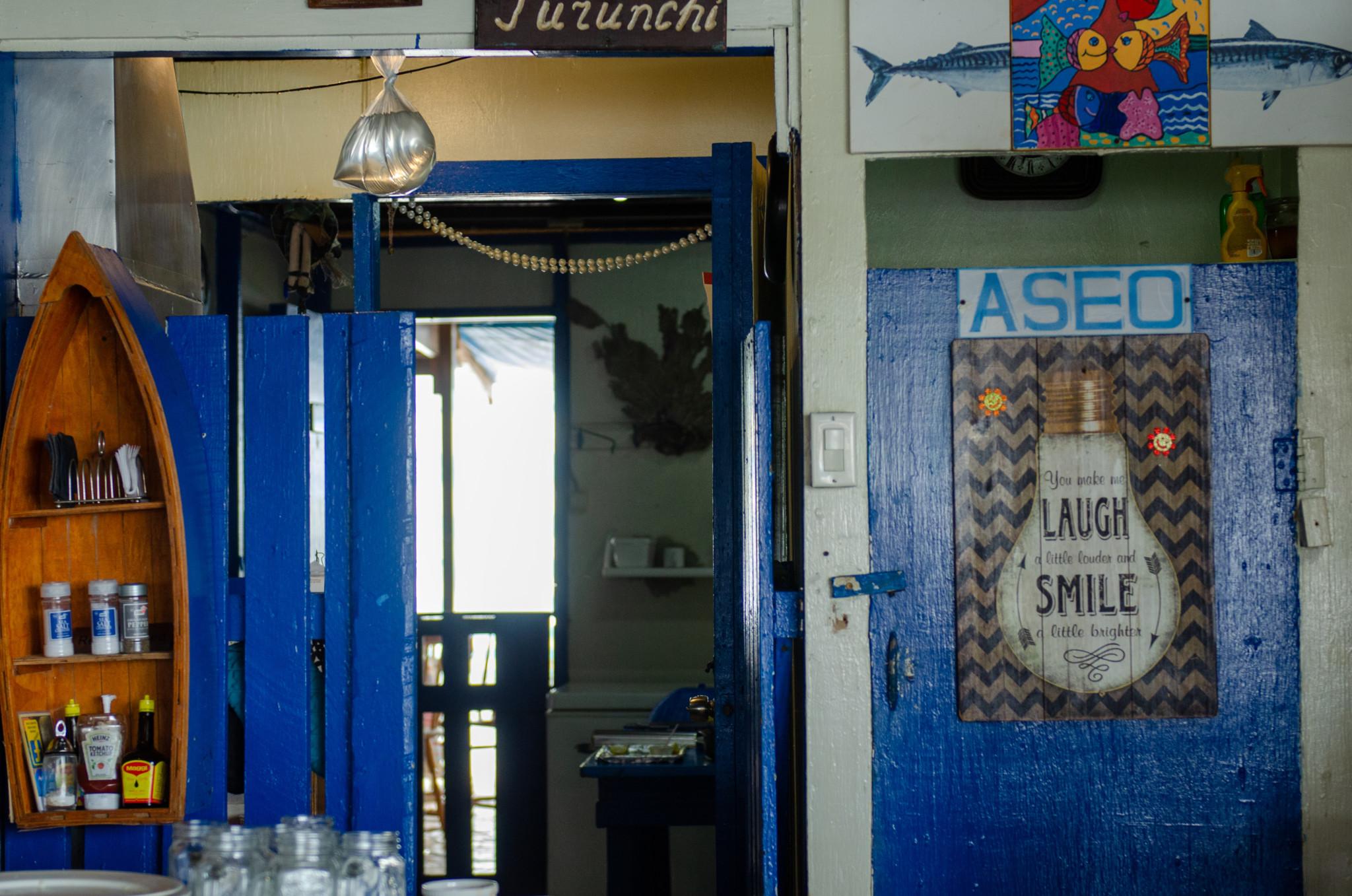 Eingang vom Purunchi Restaurant auf Curacao
