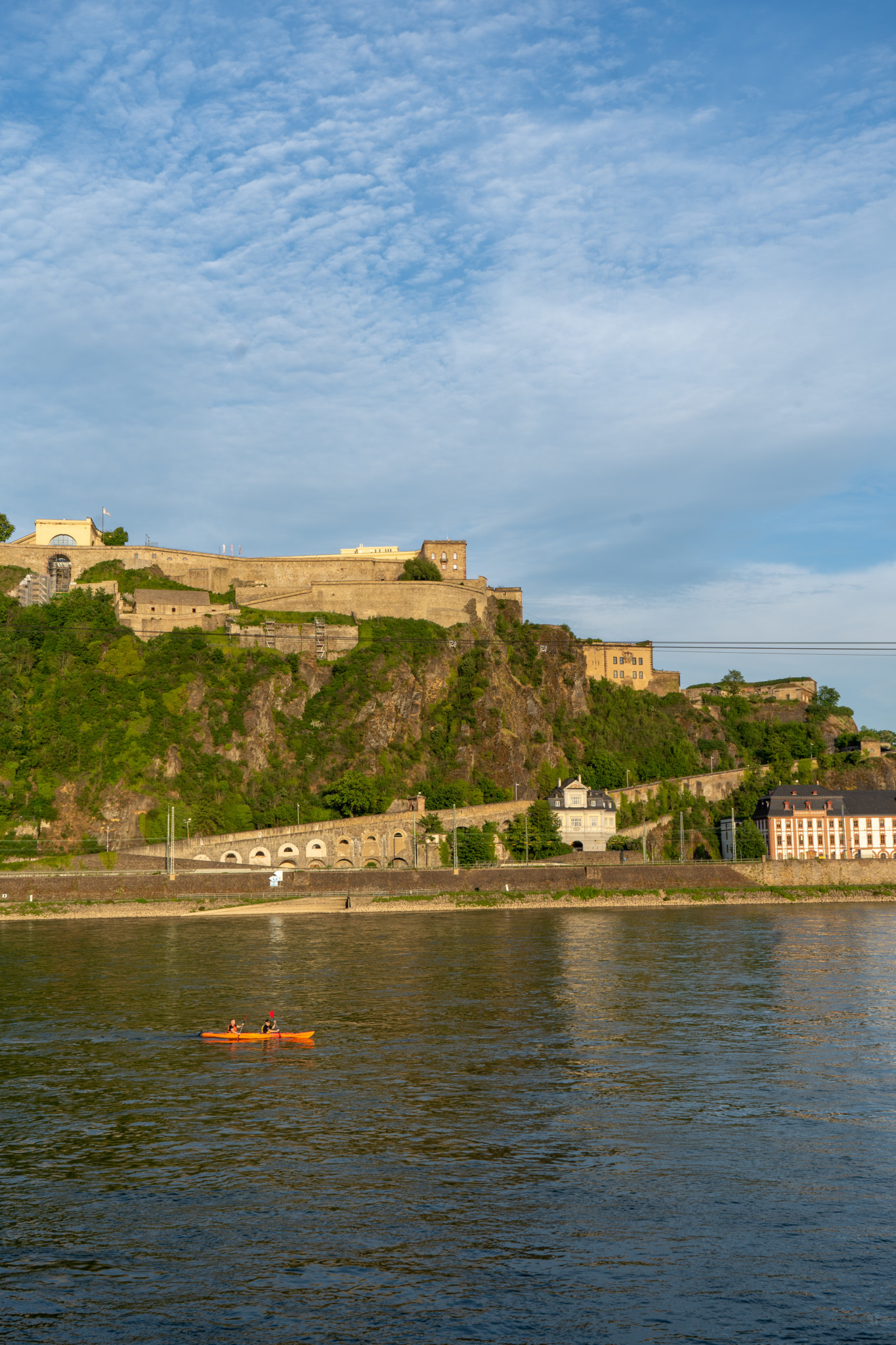 Mit der Seilbahn auf die Festung von Koblenz