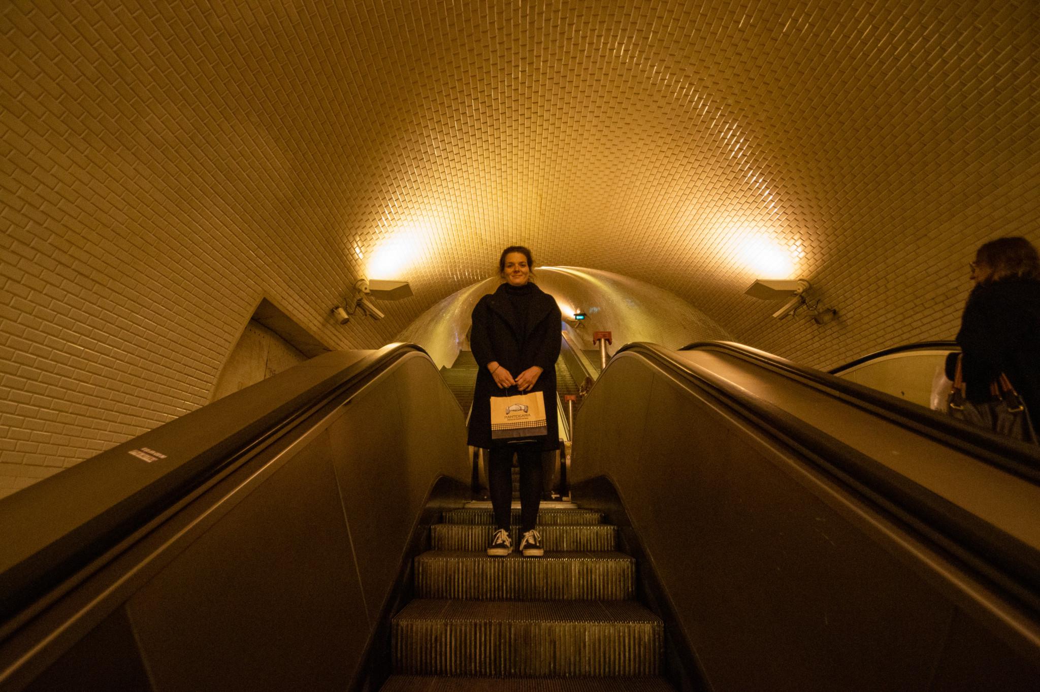 Metro fahren in Lissabon
