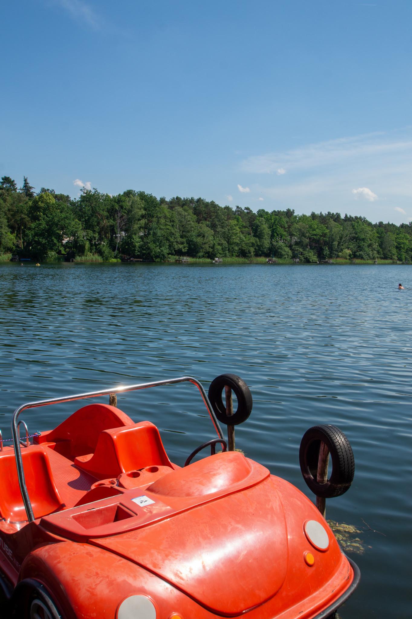 Tretboot fahren am Stolzenhagener See
