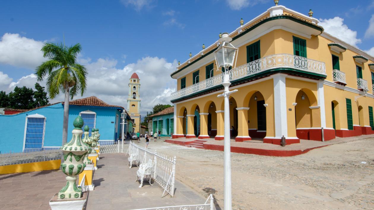 Am Hauptplatz von Trinidad ist heute alles anders.