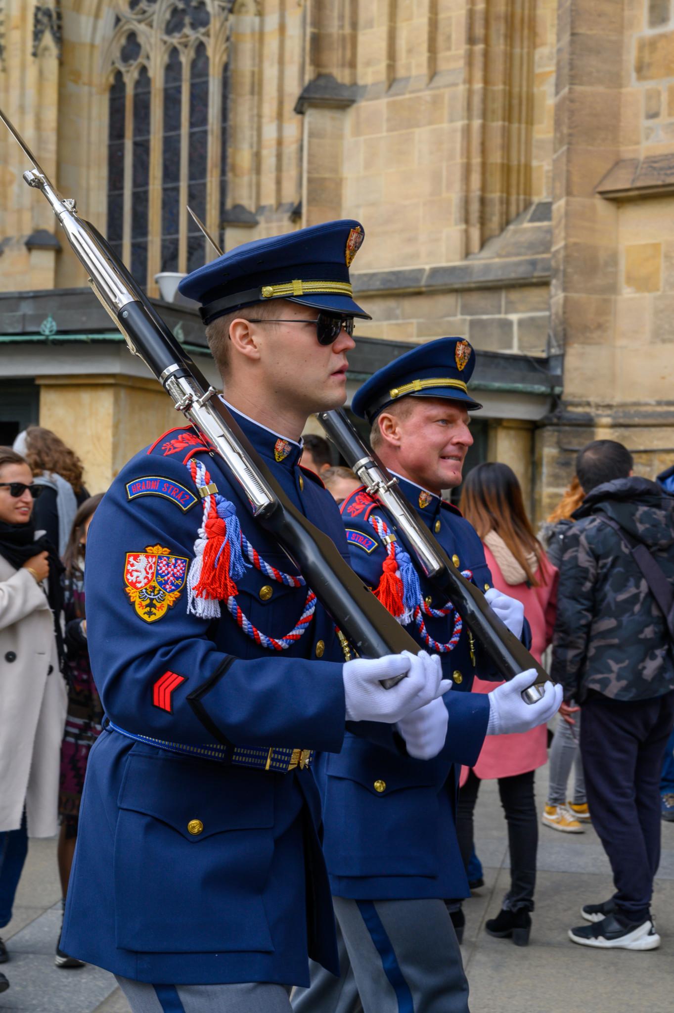 Wachtwechsel in der Prager Burg