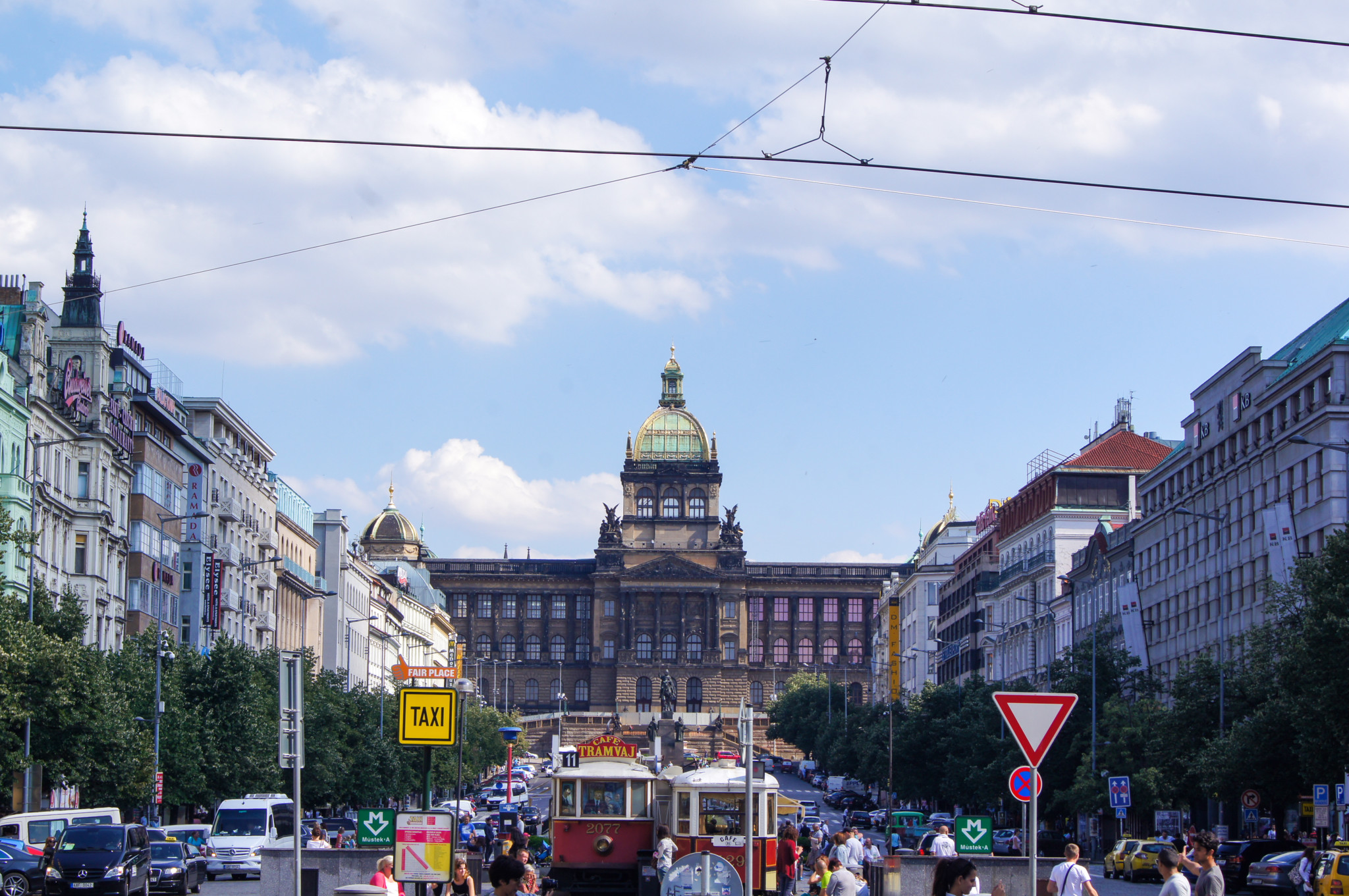 Ausblick vom Wenzelsplatz