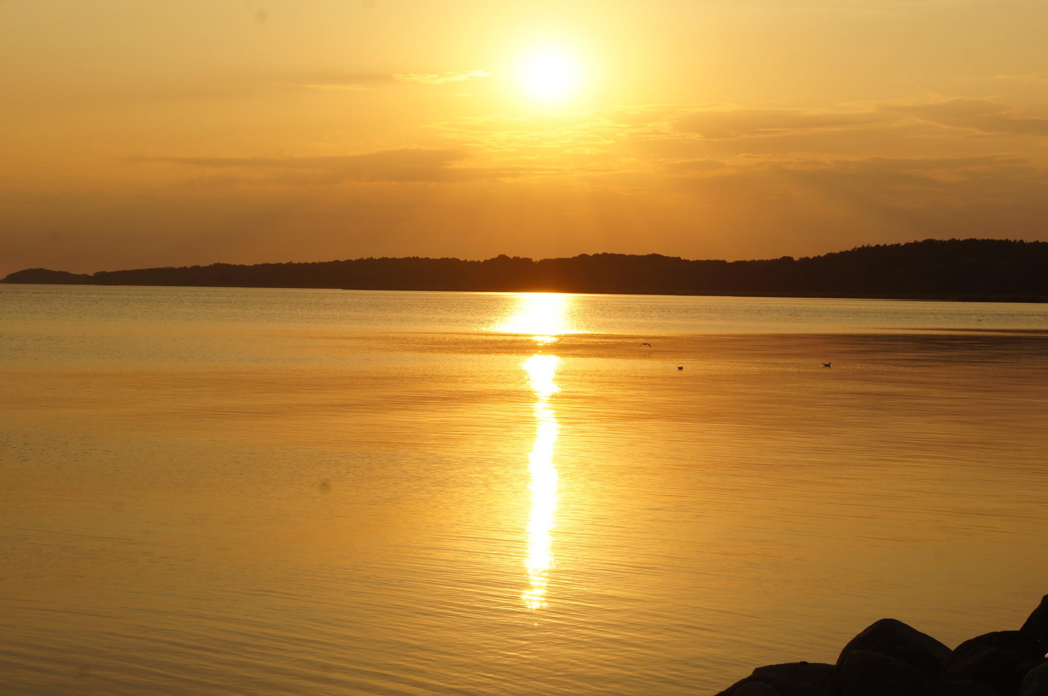 Sonnenuntergang im Usedom Urlaub