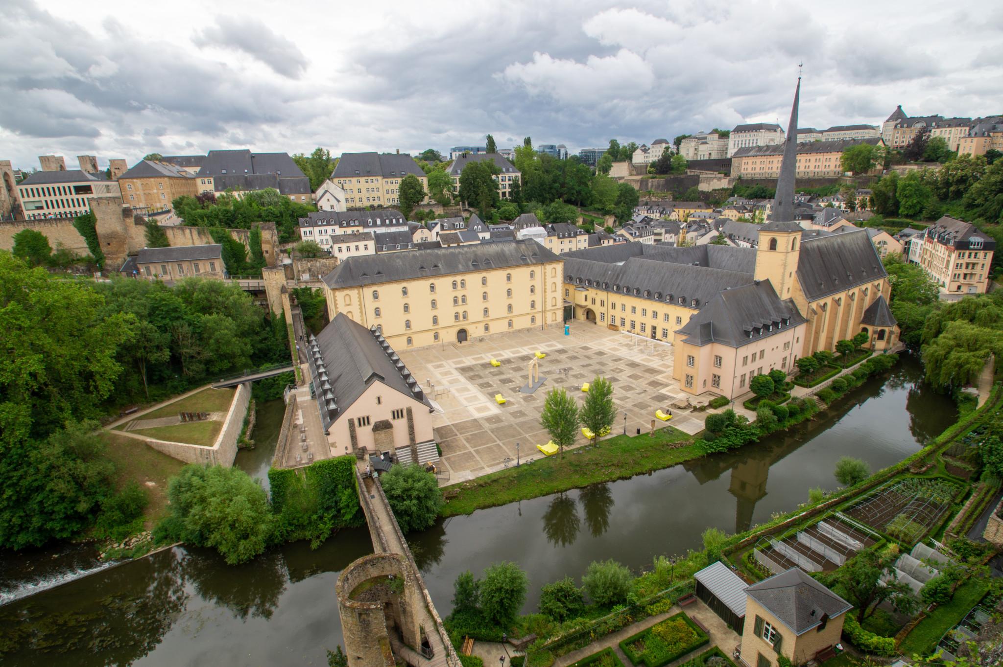 Ausblick von der Corniche von Luxemburg
