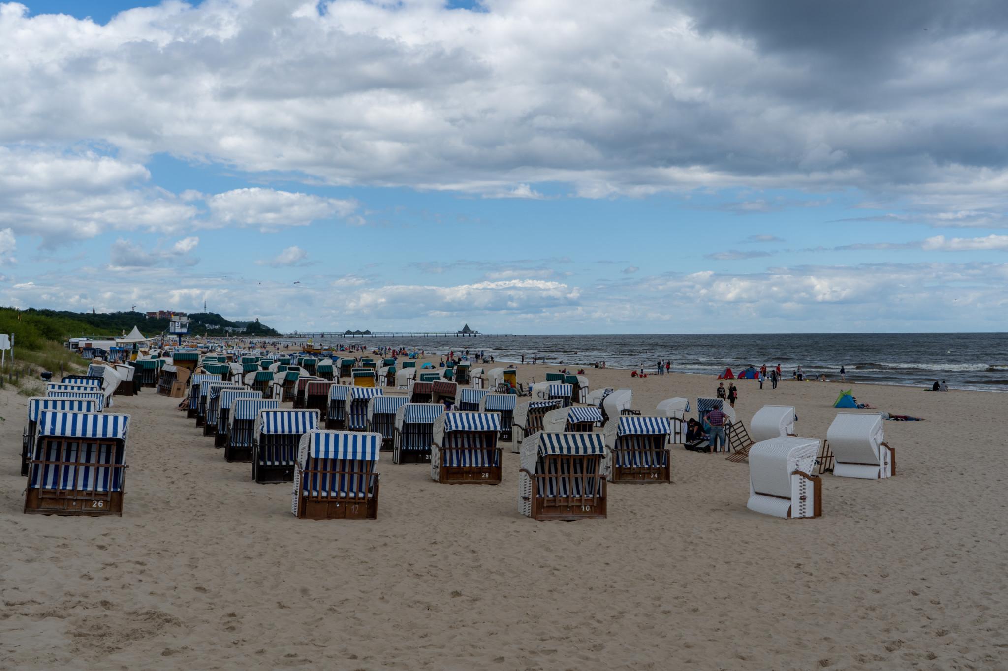 Strand von Heringsdorf auf Usedom