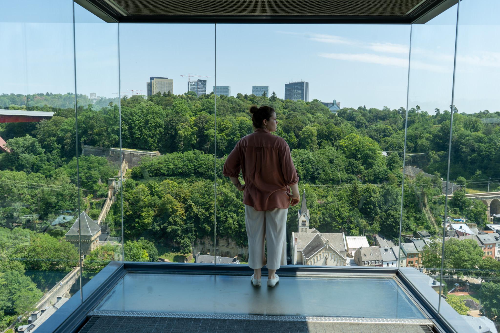Panorama Fahrstuhl in Luxemburg