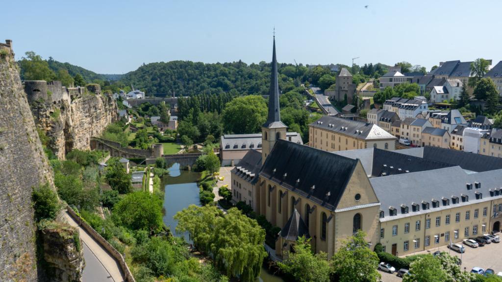 Luxemburg Stadt von oben