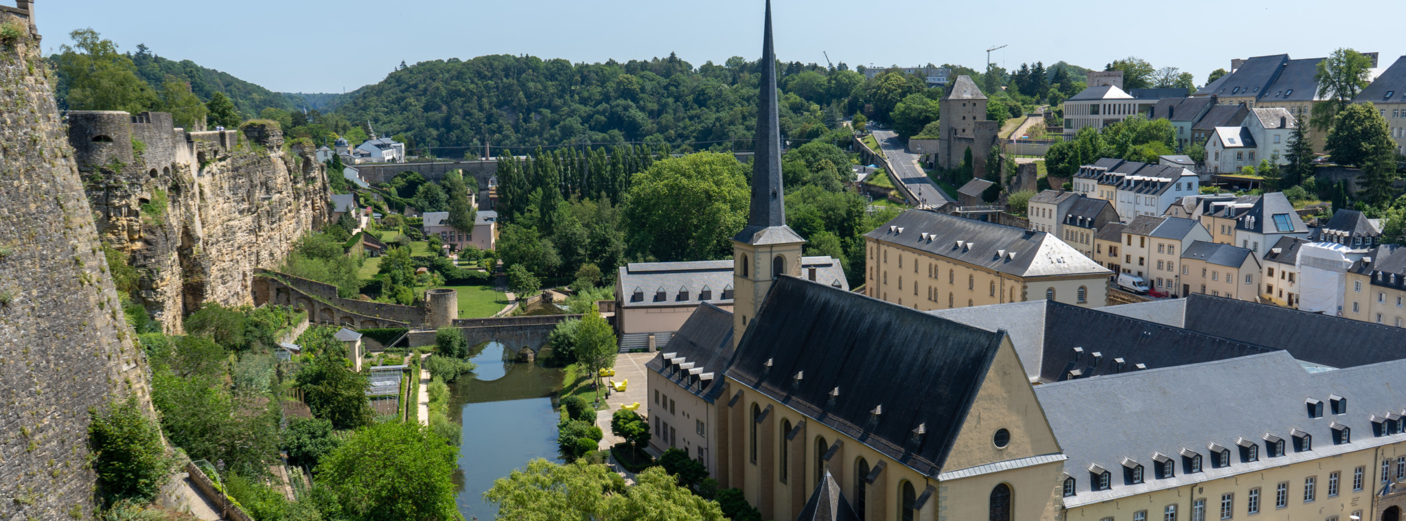 Überblick über Luxemburg Stadt