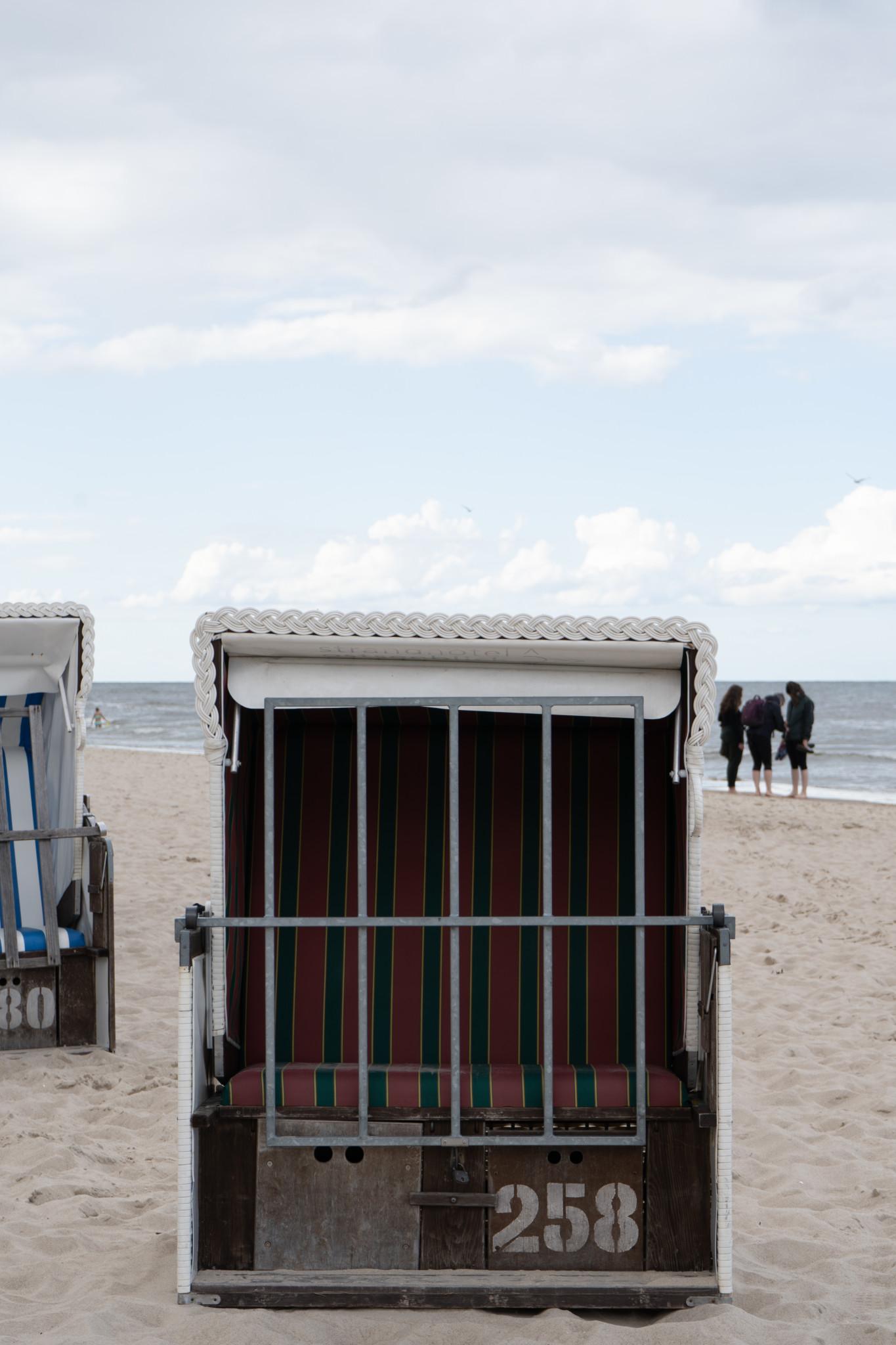 Strandkorb am Strand von Zinnowitz