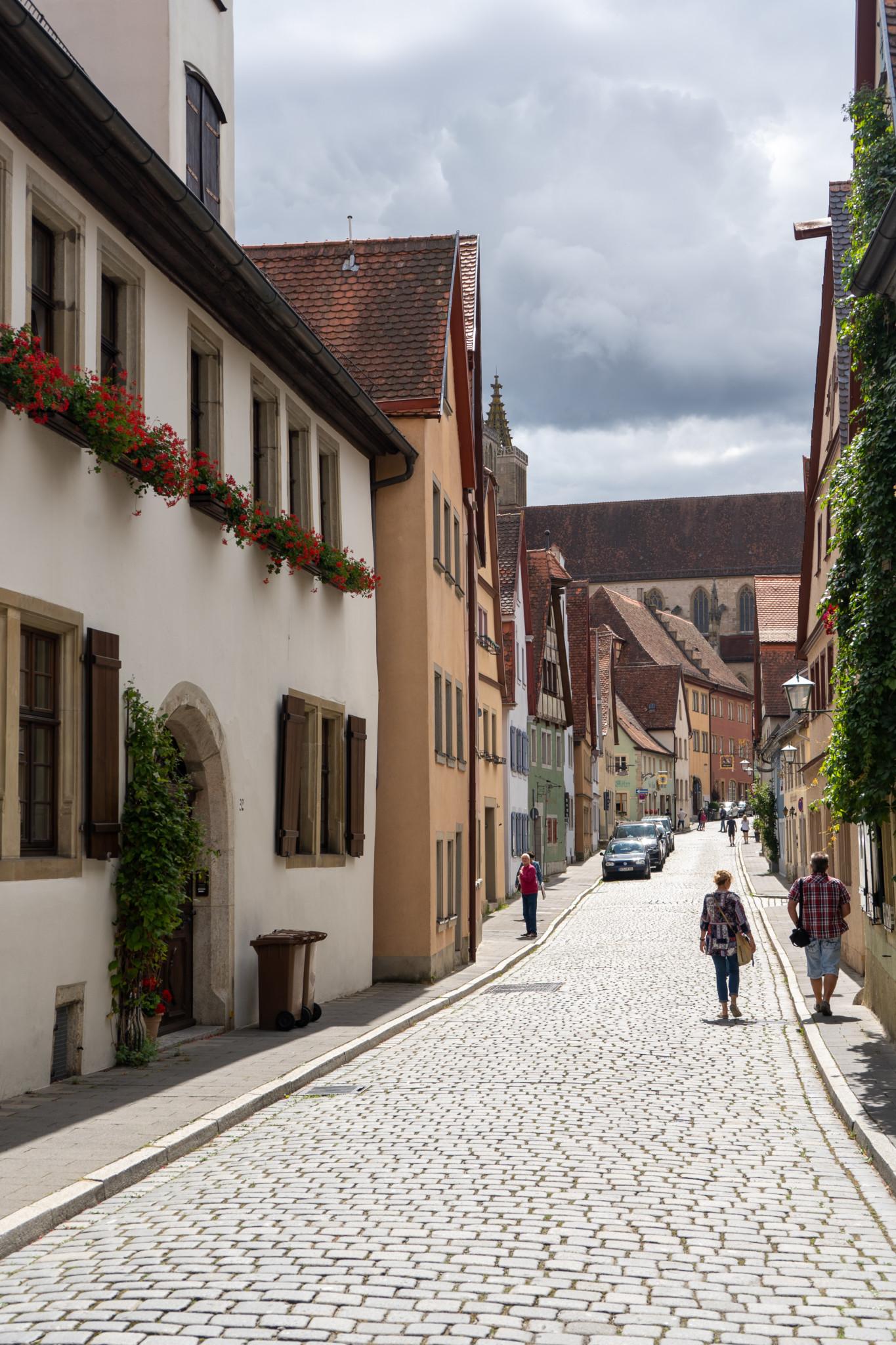 Gassen in Rothenburg ob der Tauber