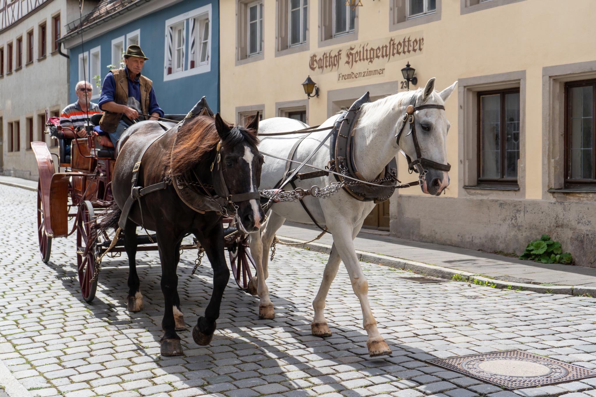 Mit der Kutsche durch Rothenburg ob der Tauber