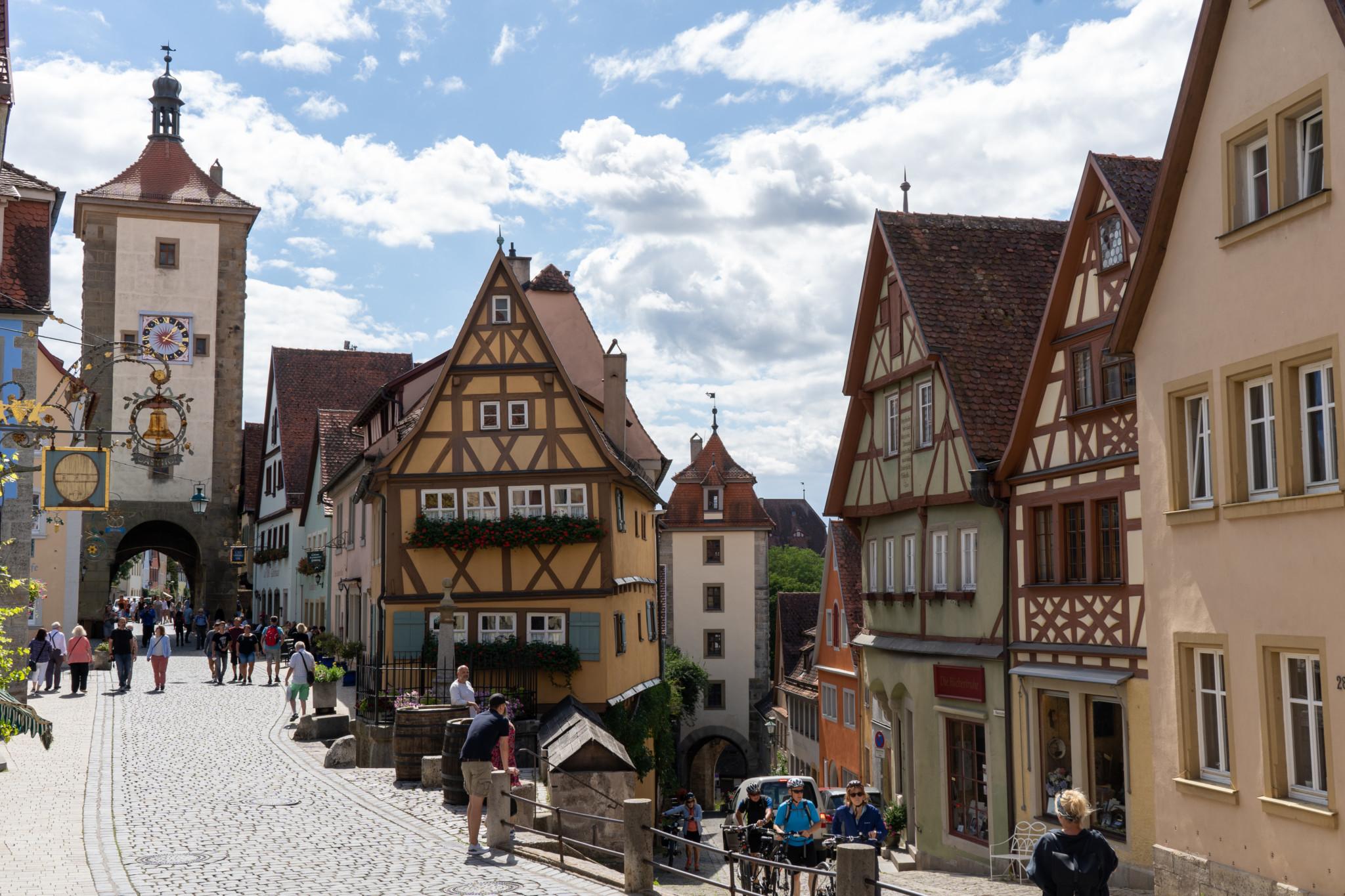 Das Plönlein ist die wichtigste Sehenswürdigkeit in Rothenburg ob der Tauber