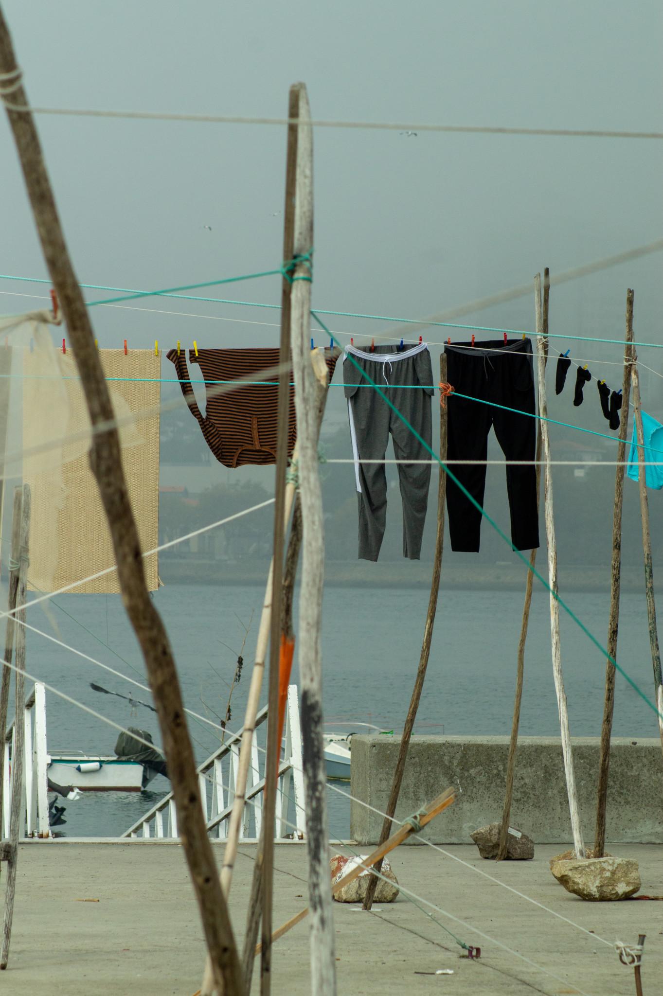 Wäscheleine in Afurada