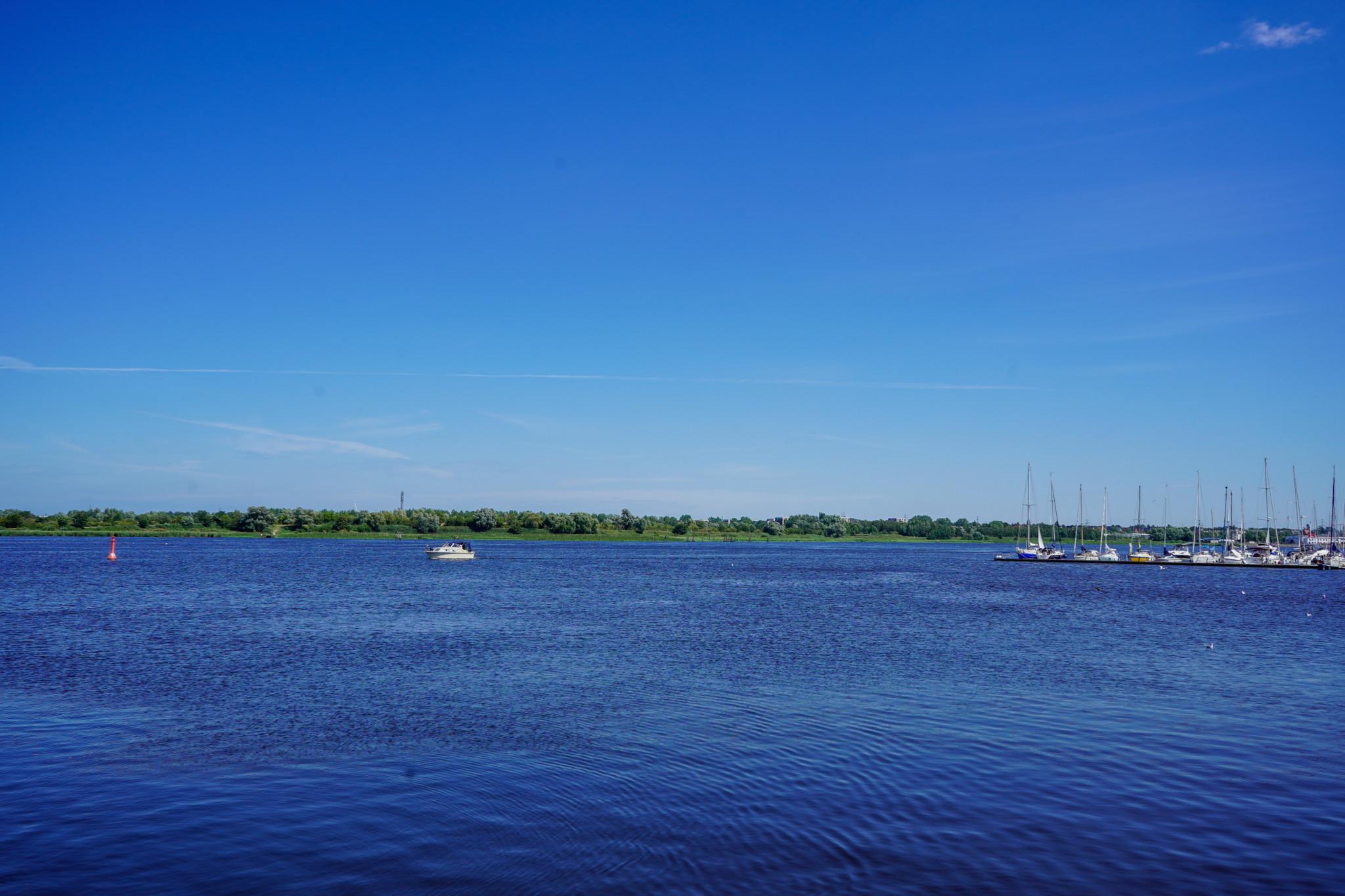 Aussicht vom Stadthafen in Rostock