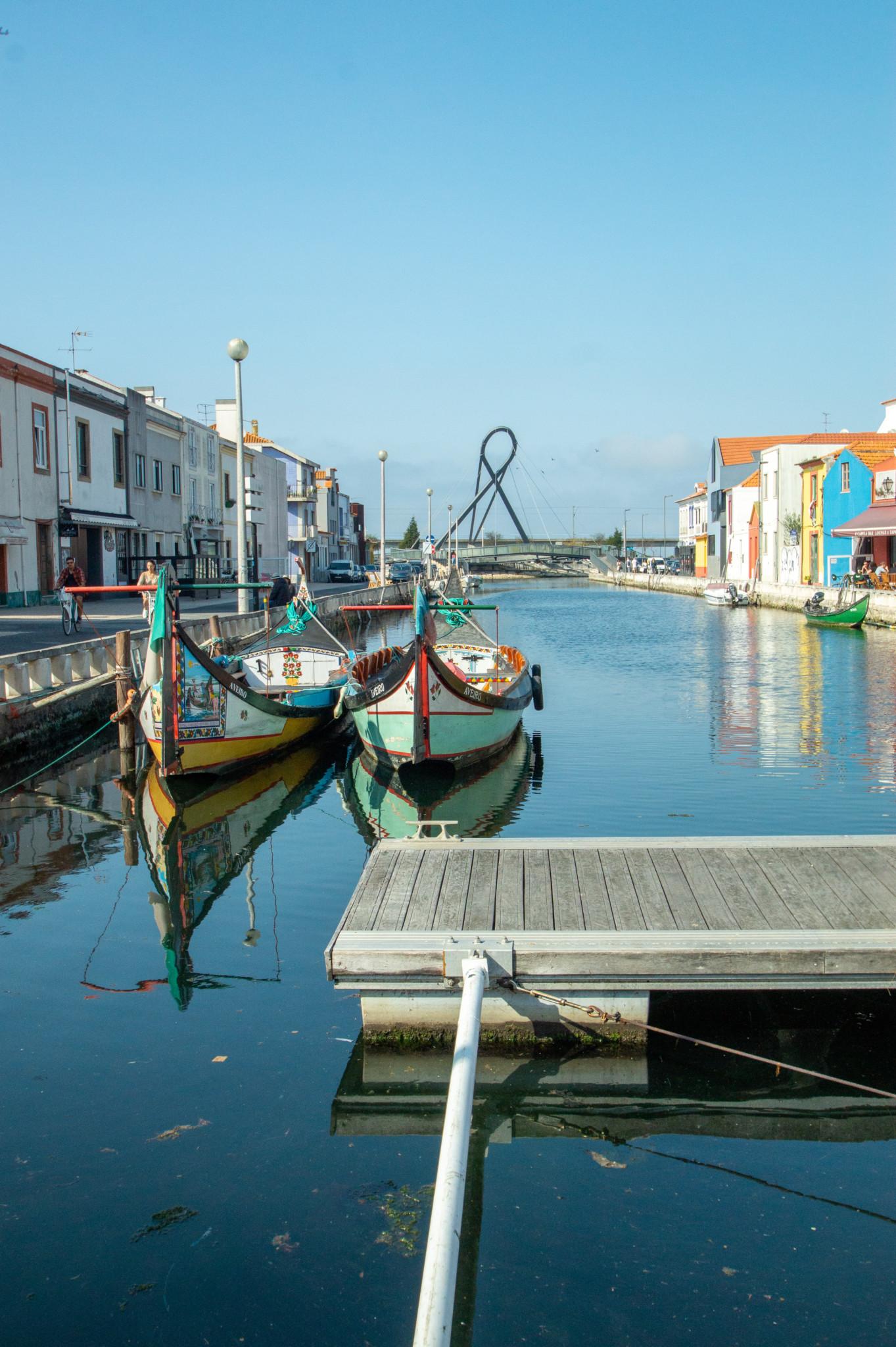 Typische Boote in Aveiro