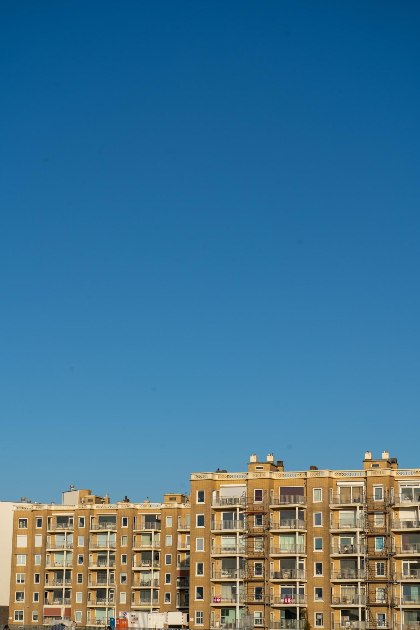 Bausünden am Scheveningen Strand