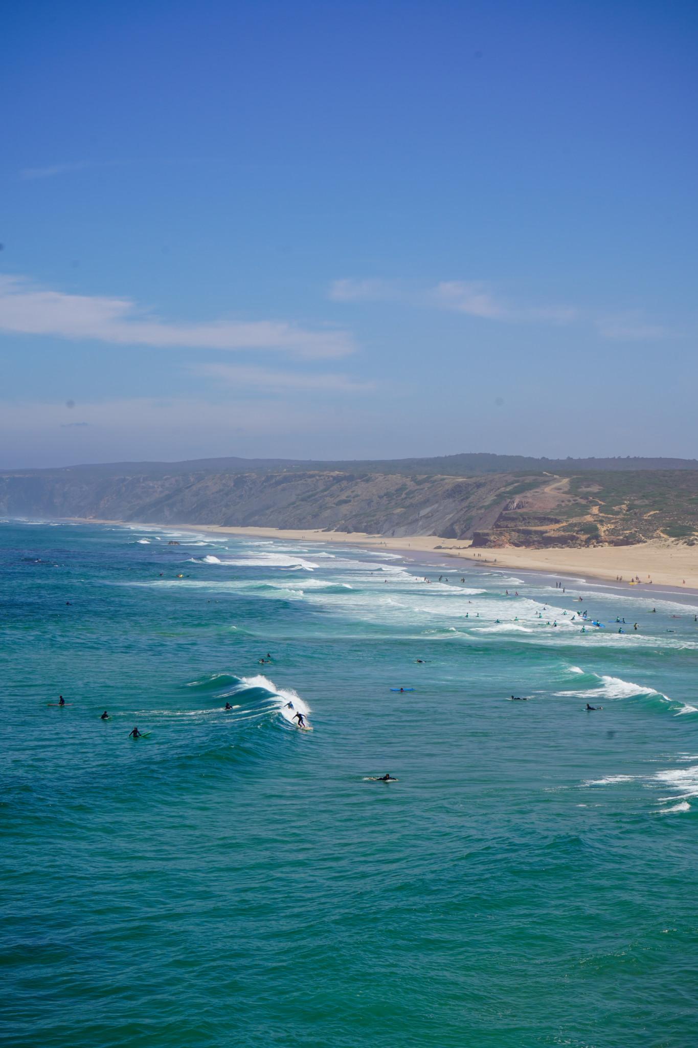 Surfing in Bordeira