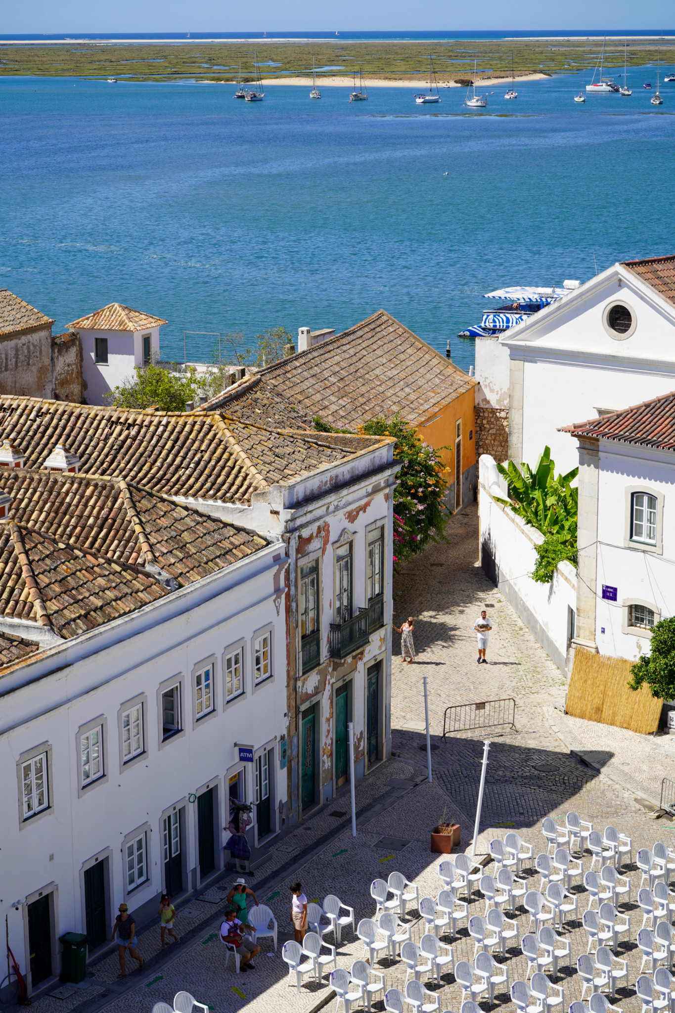 Faro in Portugal von oben