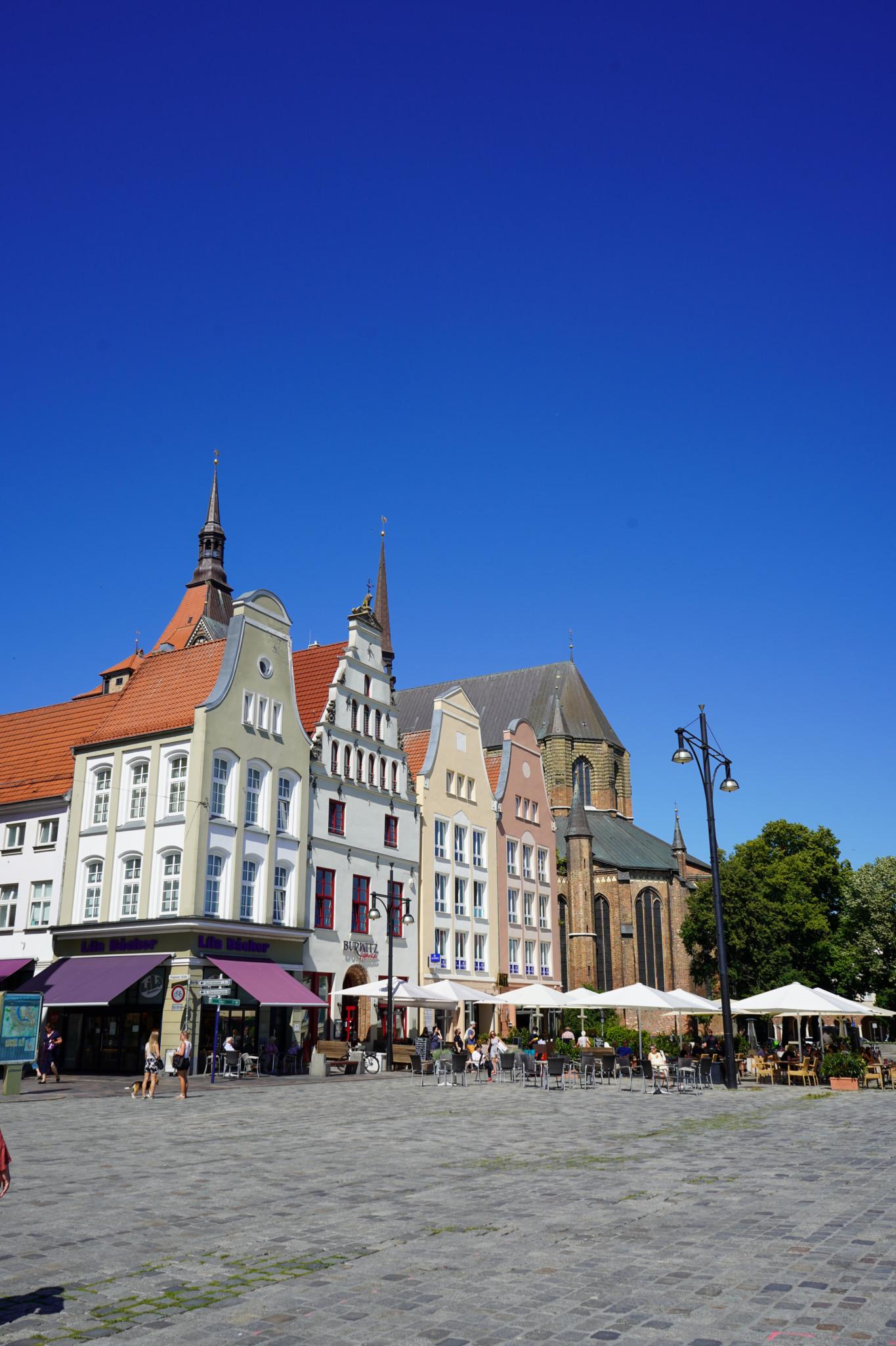 Giebelhäuser am Neuen Markt in Rostock