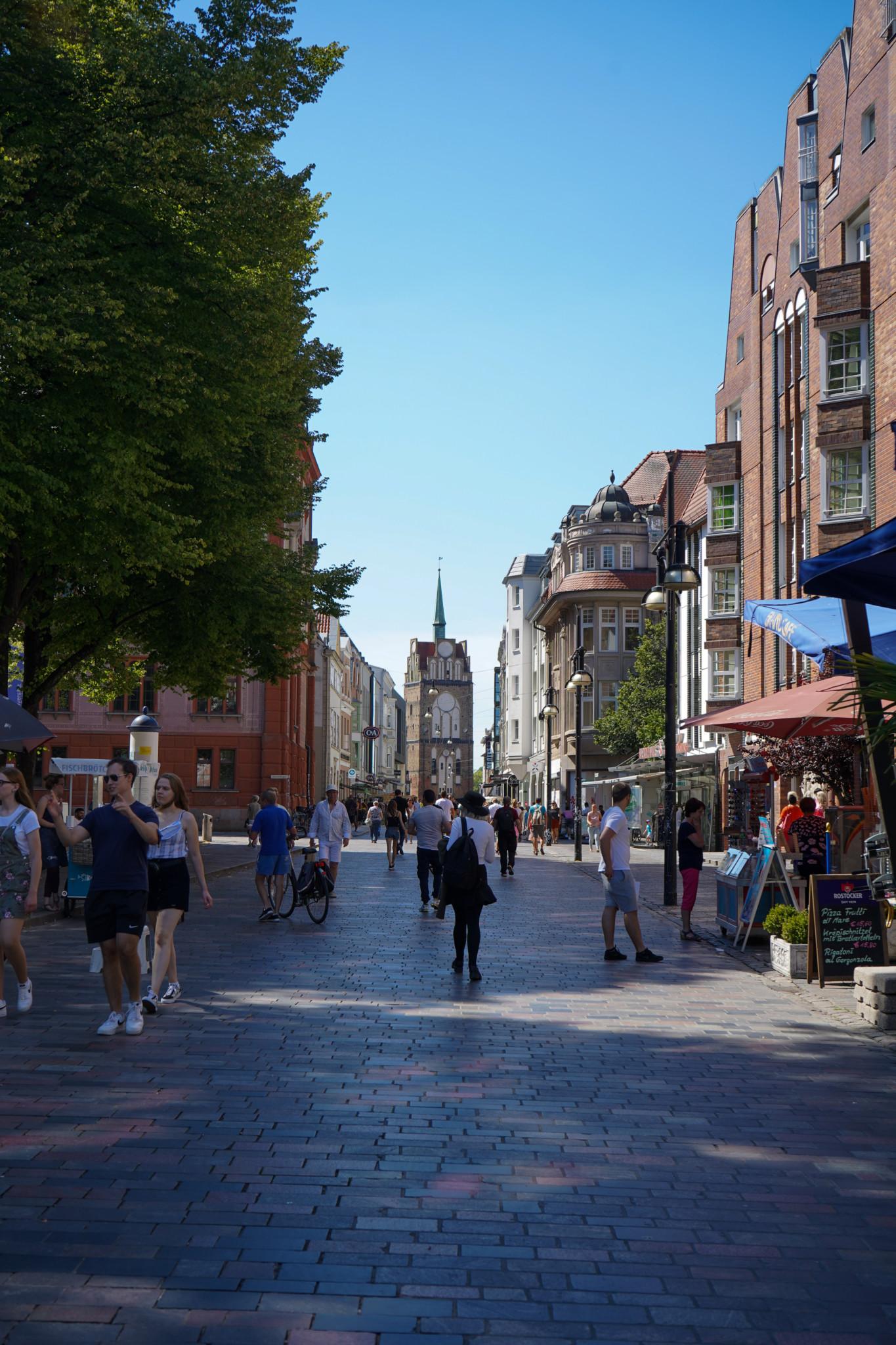 Kröpeliner Straße als wichtige Sehenswürdigkeit in Rostock