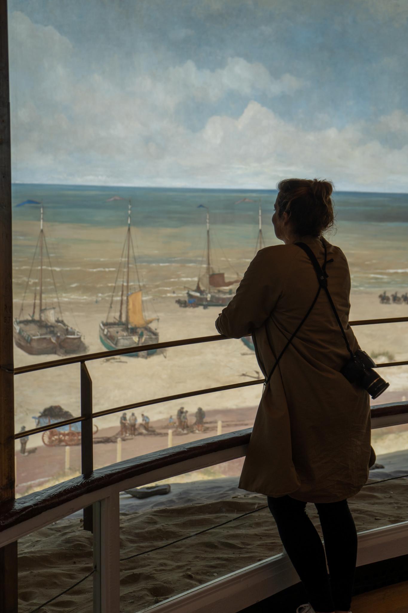 Ausblick auf Scheveningen vom Mesdag Panorama
