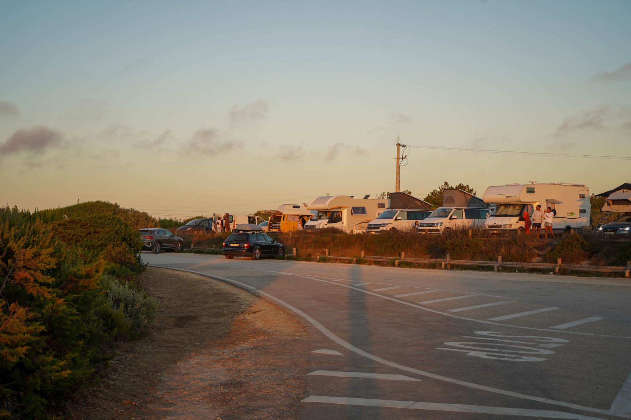 Straße in Odeceixe an der Algarve