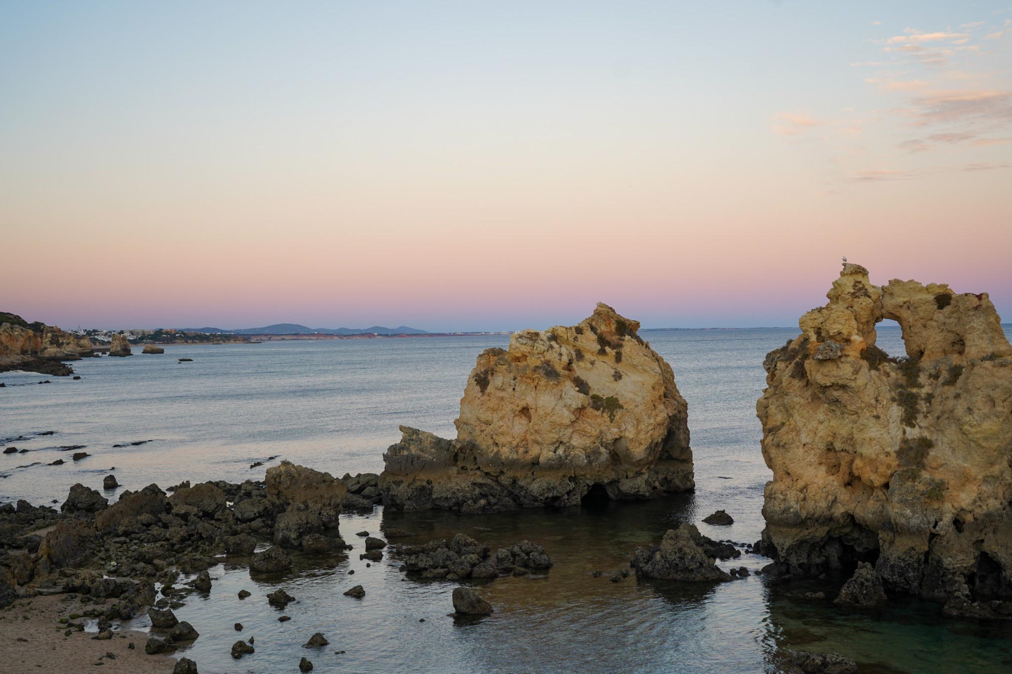 Sonnenuntergang in der Nähe von Albufeira.