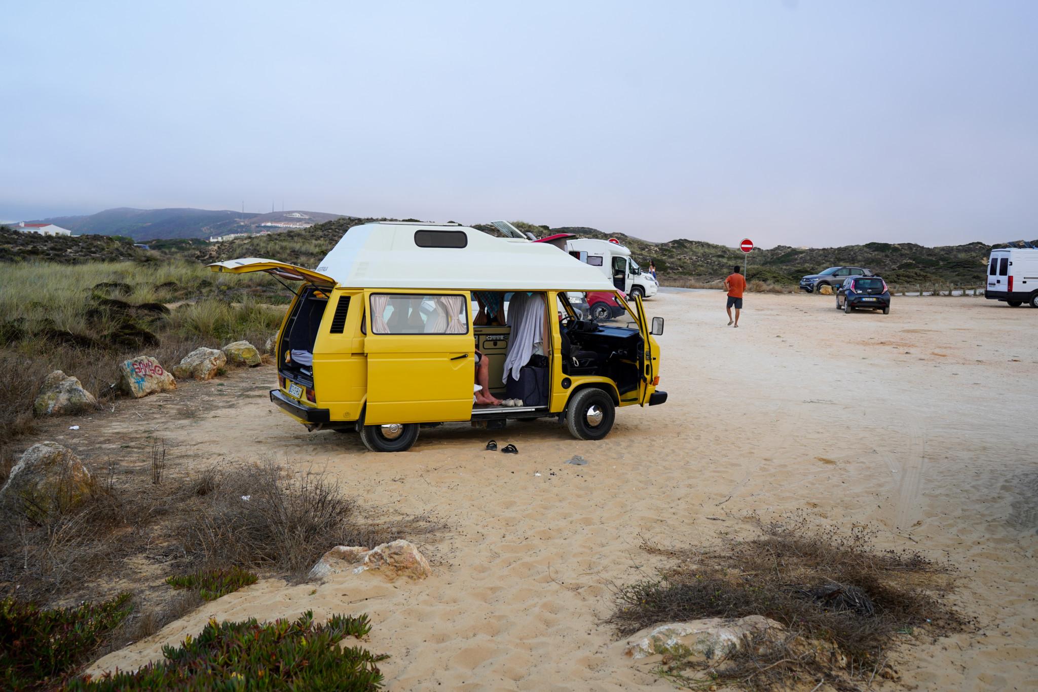 So sieht wildcampen in Portugal aus