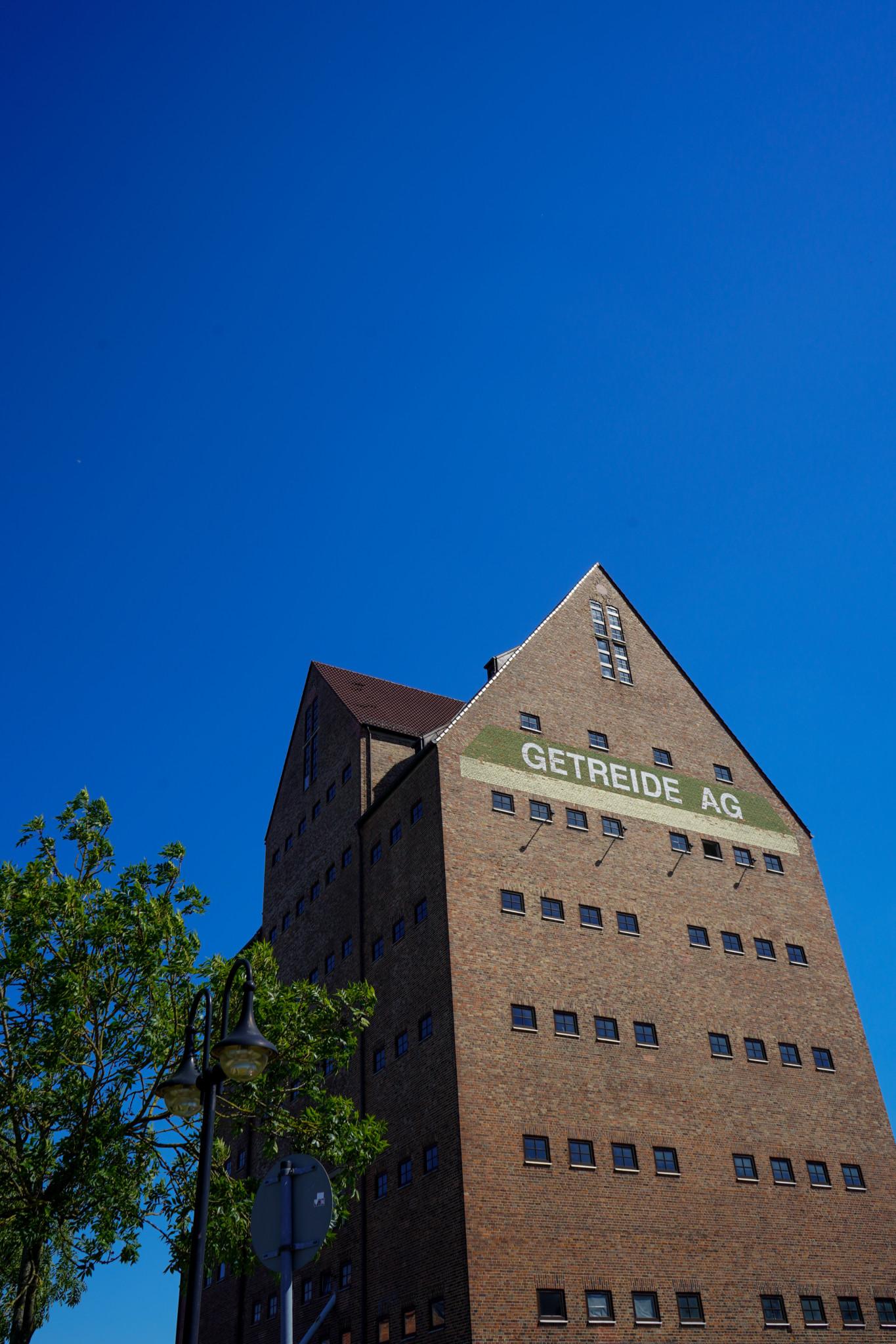 Blick auf die Speicher in Rostock