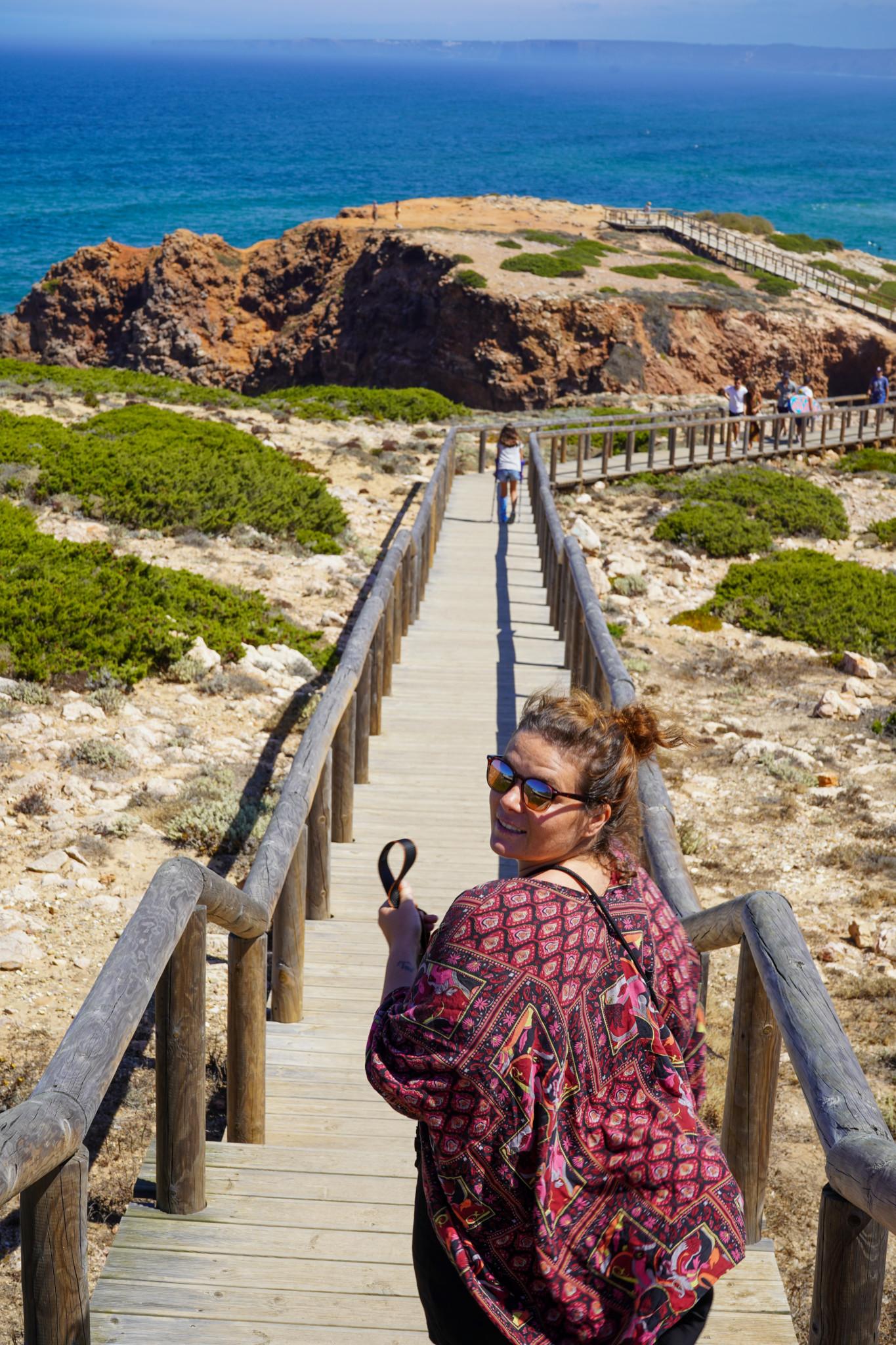 Bordeira Steg zum Strand