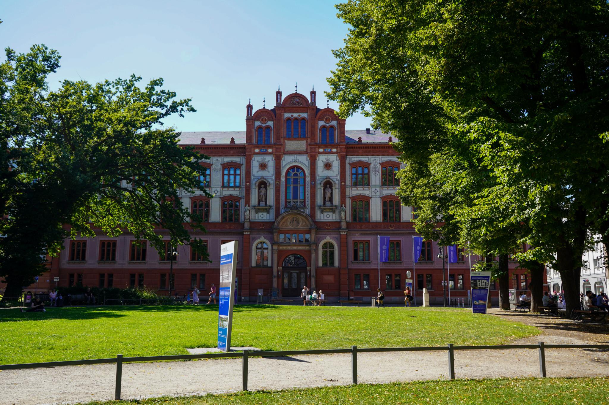 Universitätsplatz in Rostock